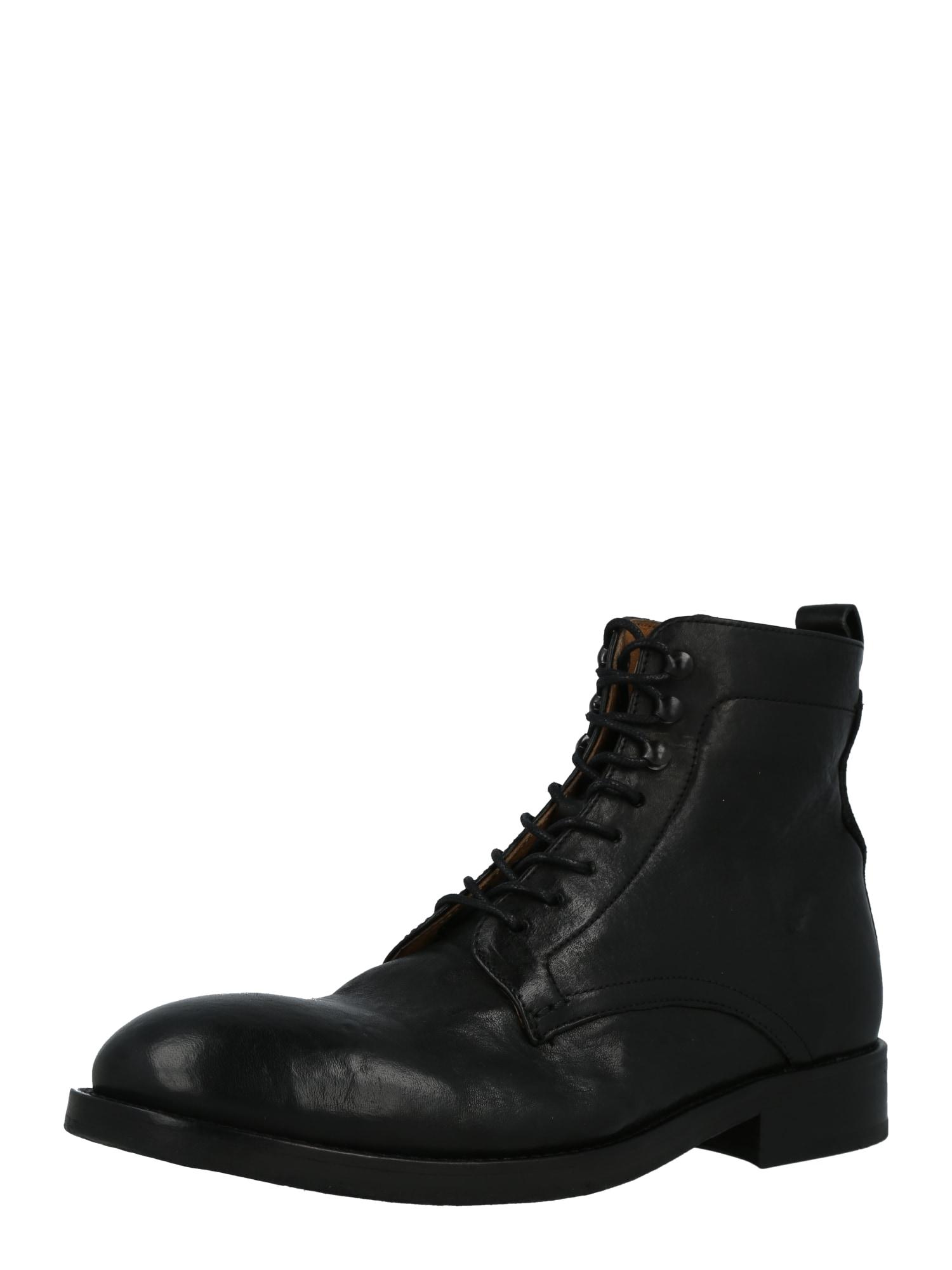 Hudson London Šněrovací boty 'YEW'  černá