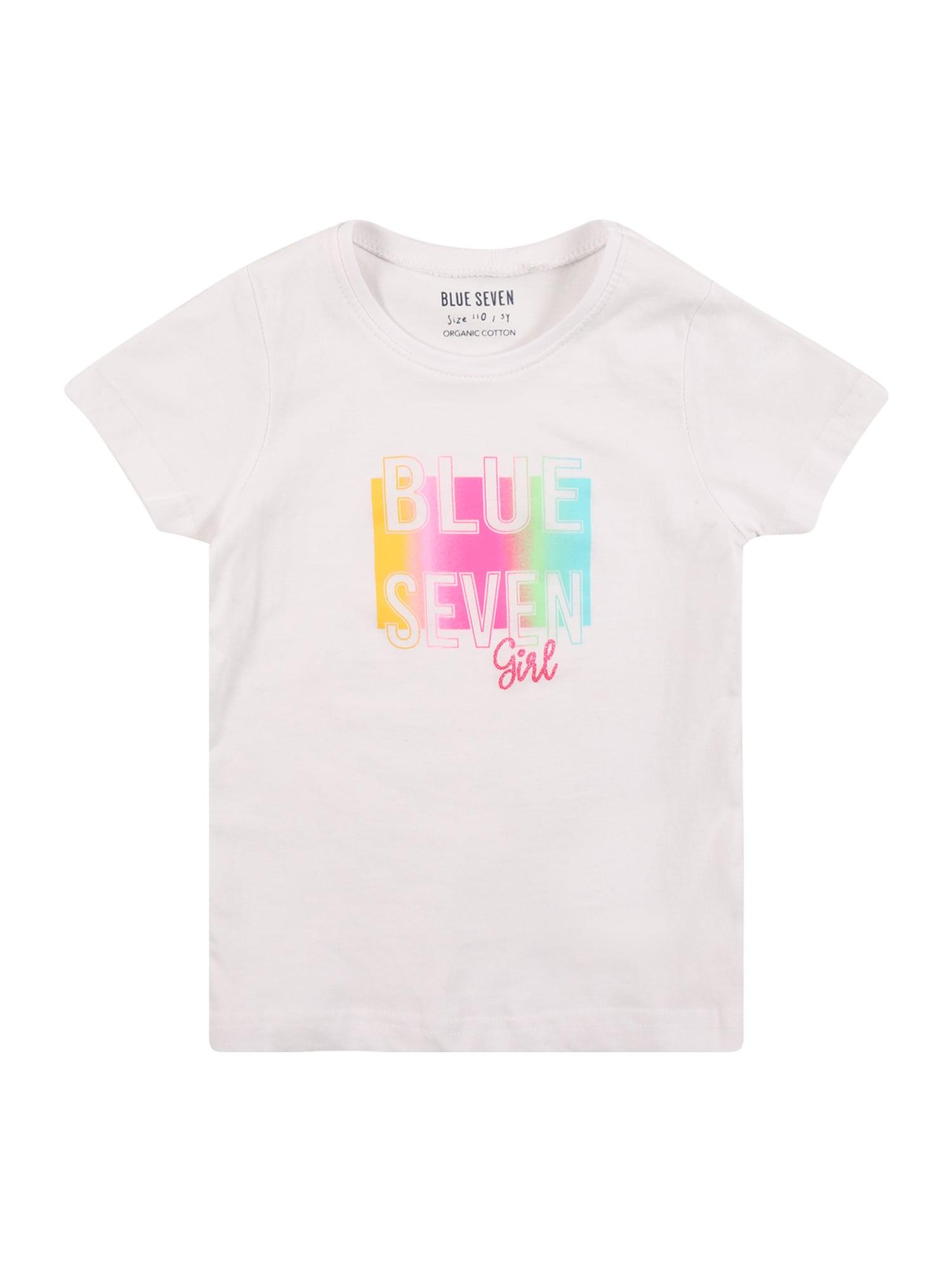 BLUE SEVEN Marškinėliai balta / geltona / rožinė / žalia / mėlyna
