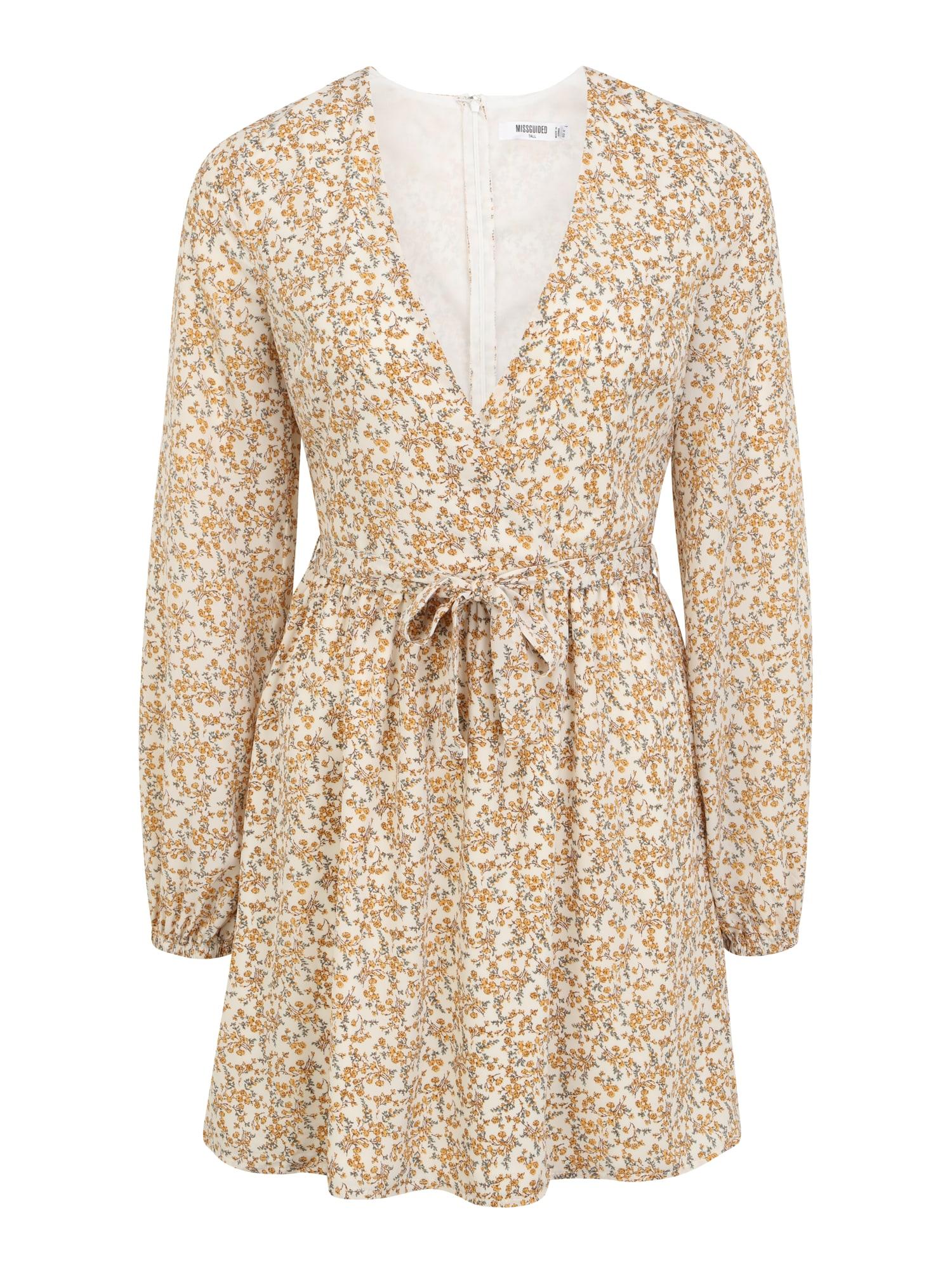 Missguided (Tall) Suknelė natūrali balta / geltona / žalia