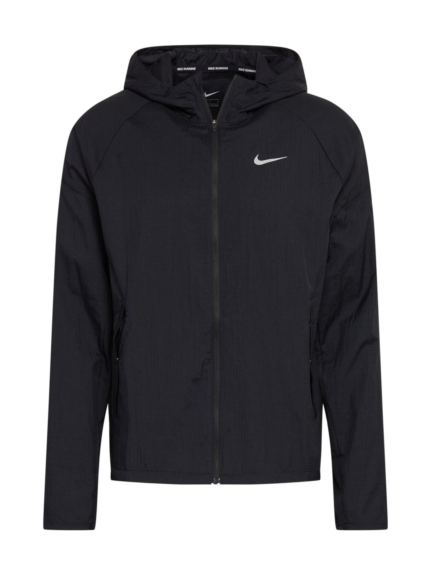 NIKE Sportovní bunda 'Essential'  černá / tmavě šedá