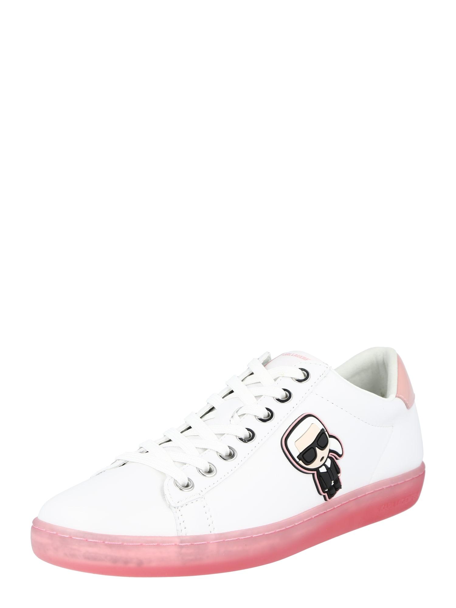 Karl Lagerfeld Sportbačiai be auliuko balta / juoda