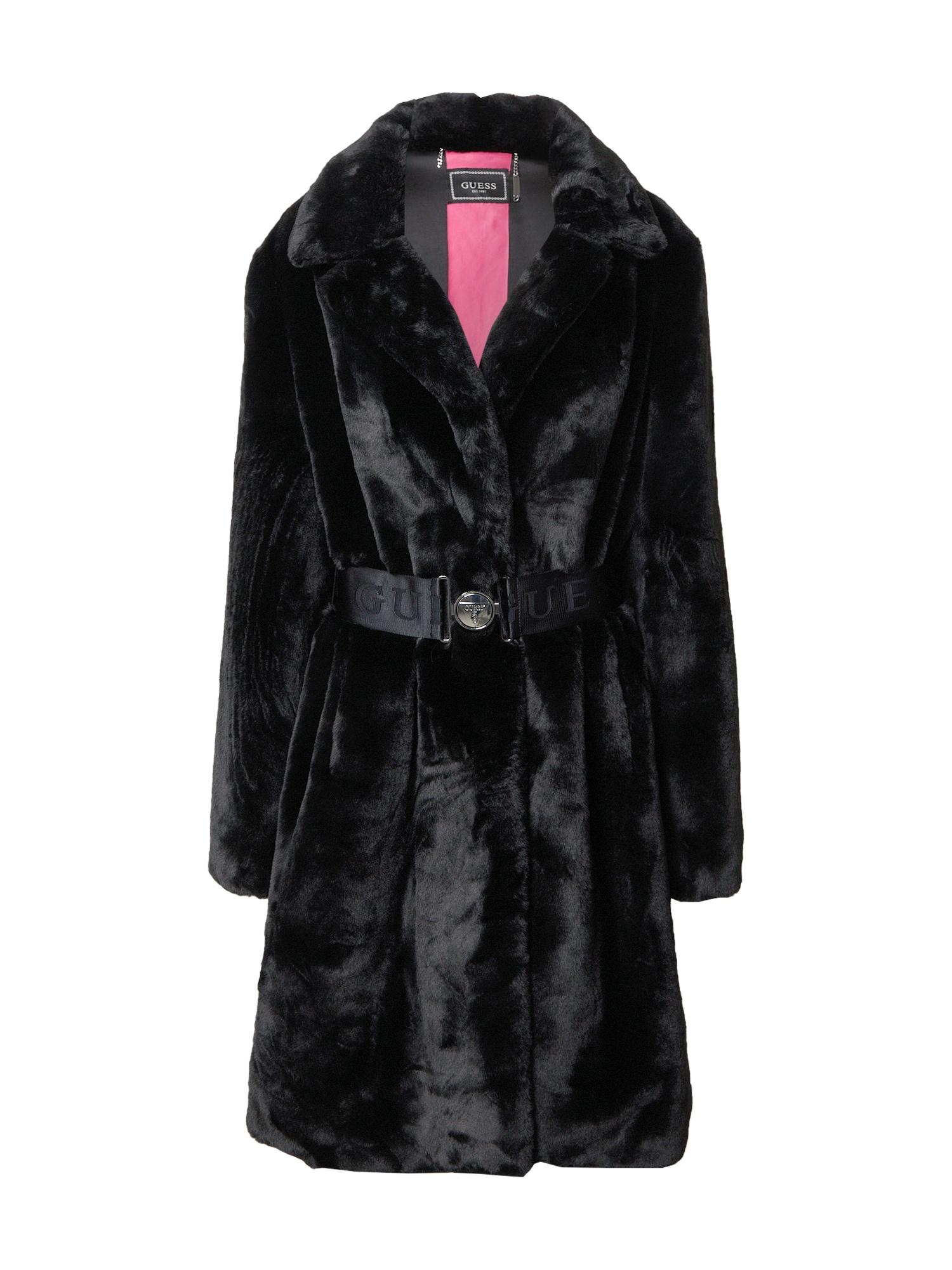 GUESS Demisezoninis paltas juoda