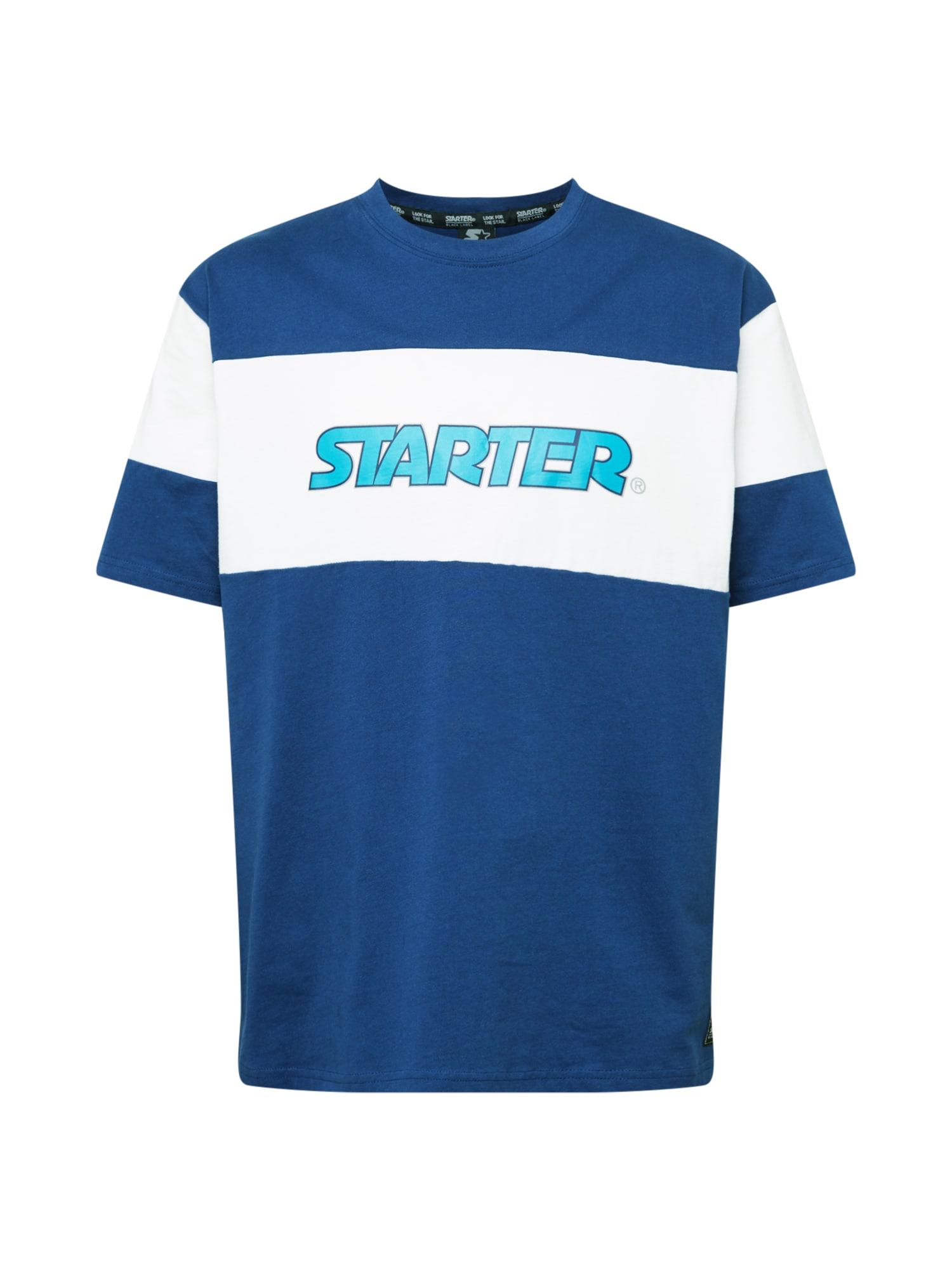 Starter Black Label Marškinėliai balta / vandens spalva / tamsiai mėlyna