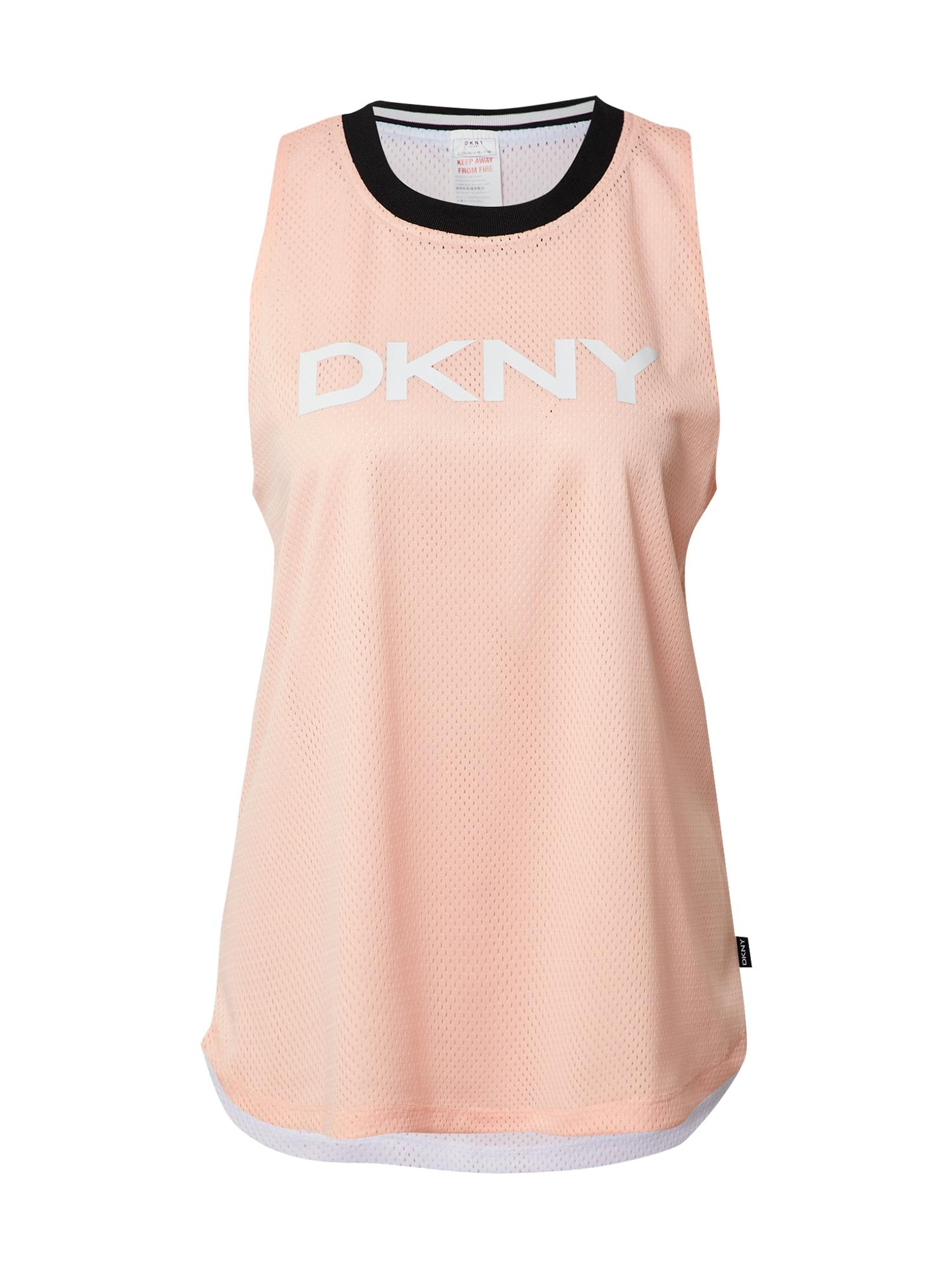 DKNY Performance Palaidinė be rankovių persikų spalva / oranžinė / balta / juoda