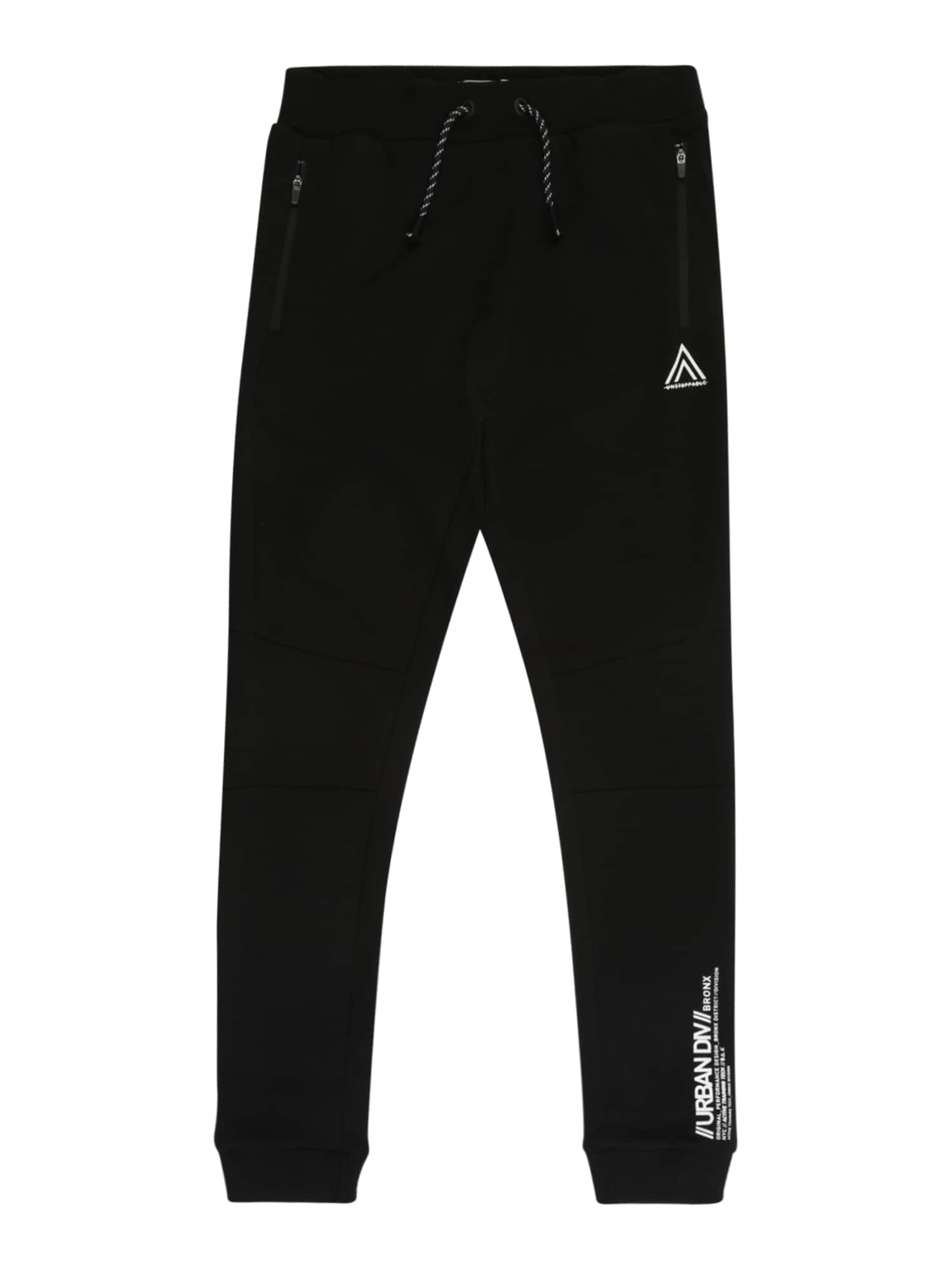 NAME IT Kalhoty 'NAMIR'  černá / bílá