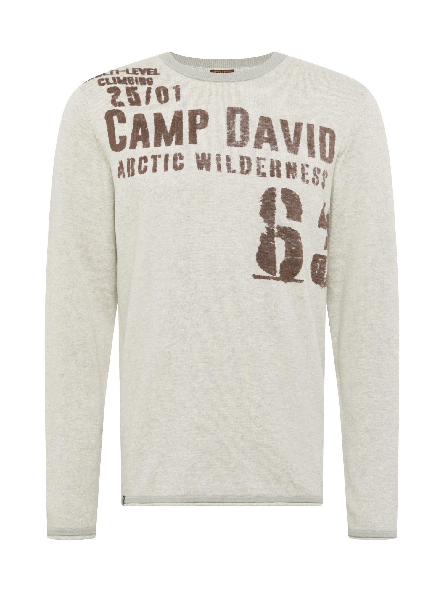 CAMP DAVID Megztinis pilka / tamsiai ruda