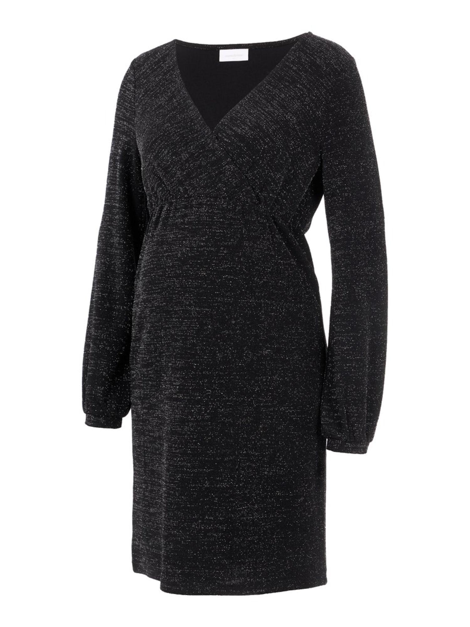 MAMALICIOUS Suknelė juoda / pilka