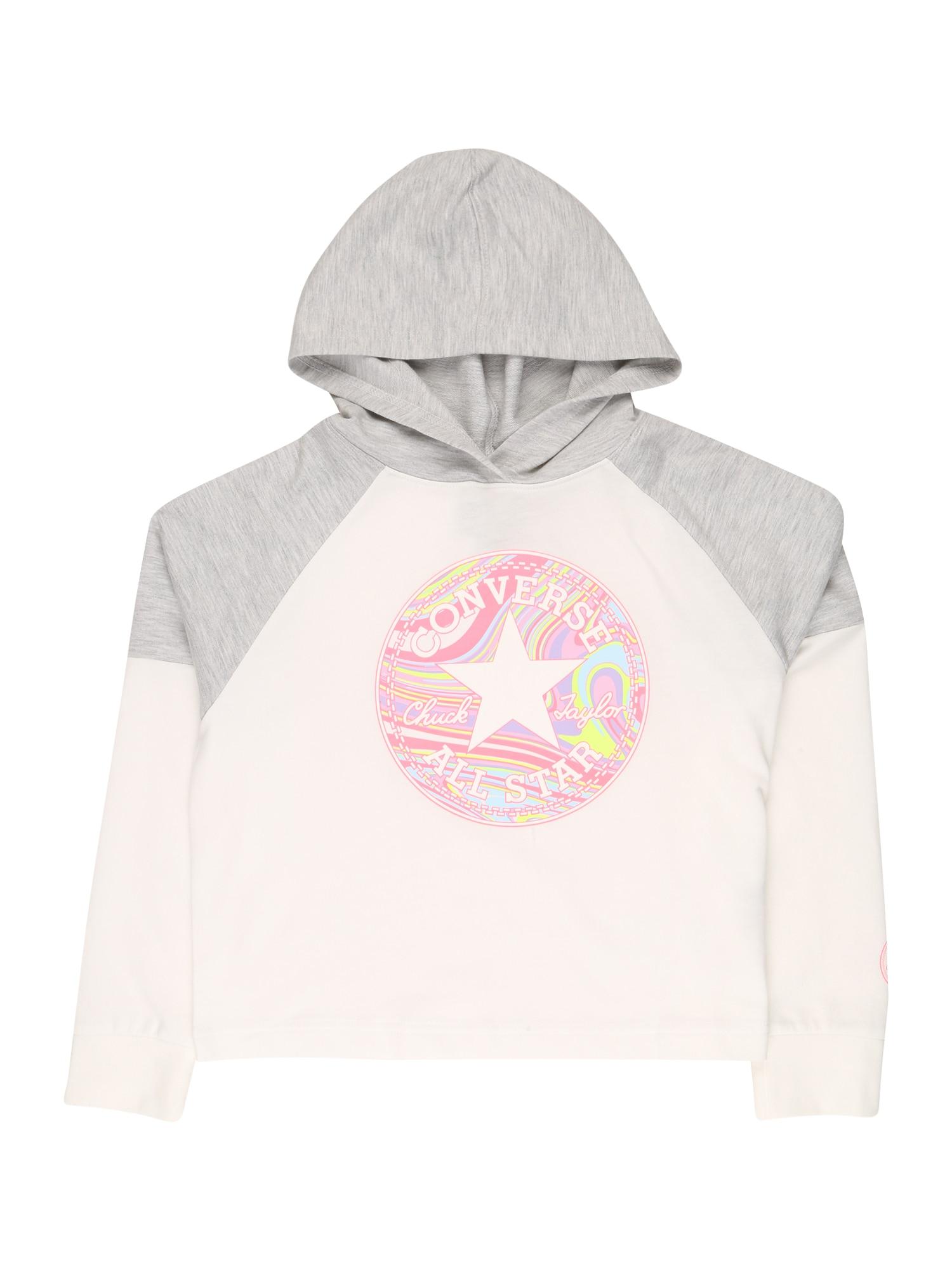 CONVERSE Mikina  růžová / mix barev