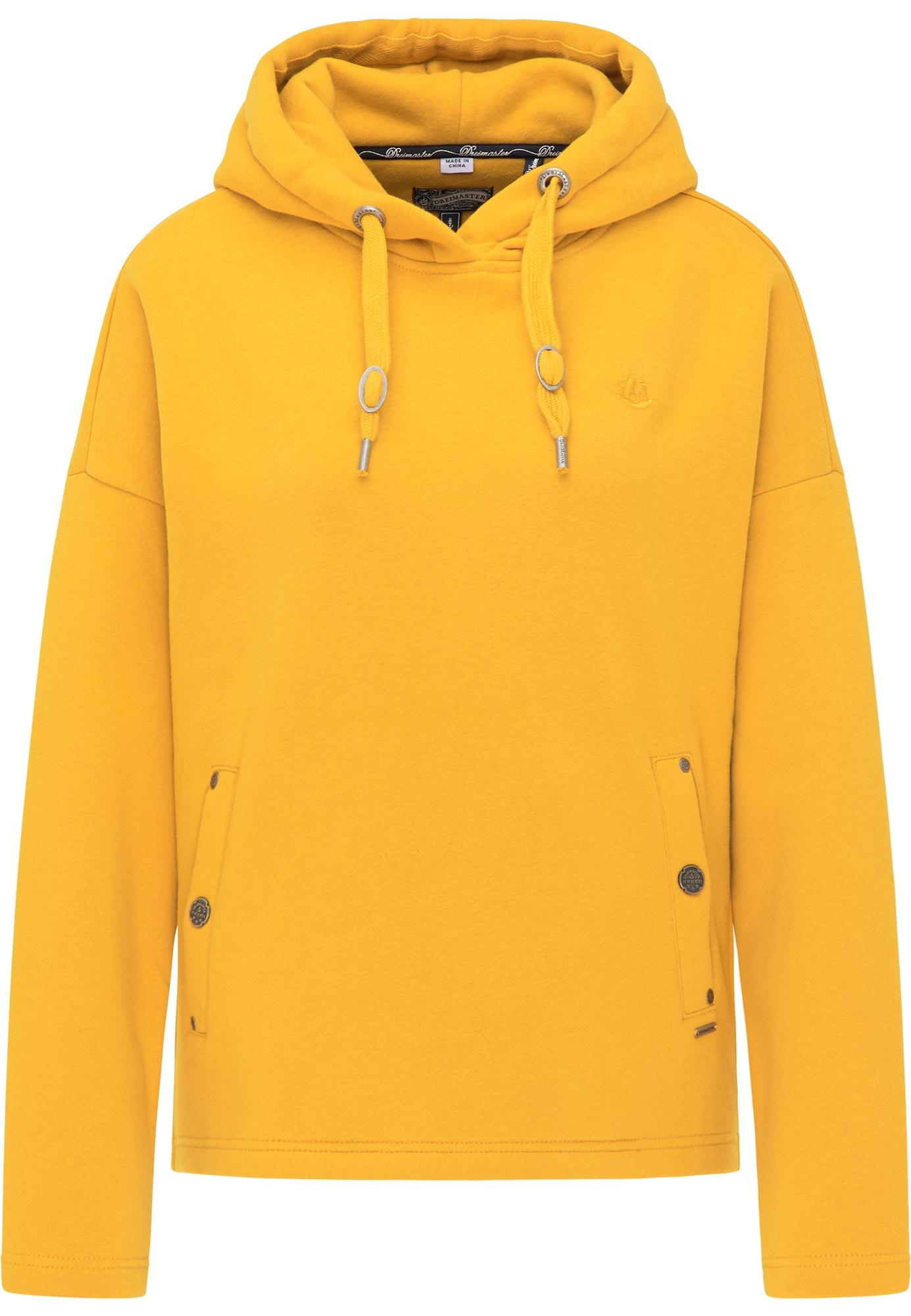 DreiMaster Vintage Megztinis be užsegimo aukso geltonumo spalva