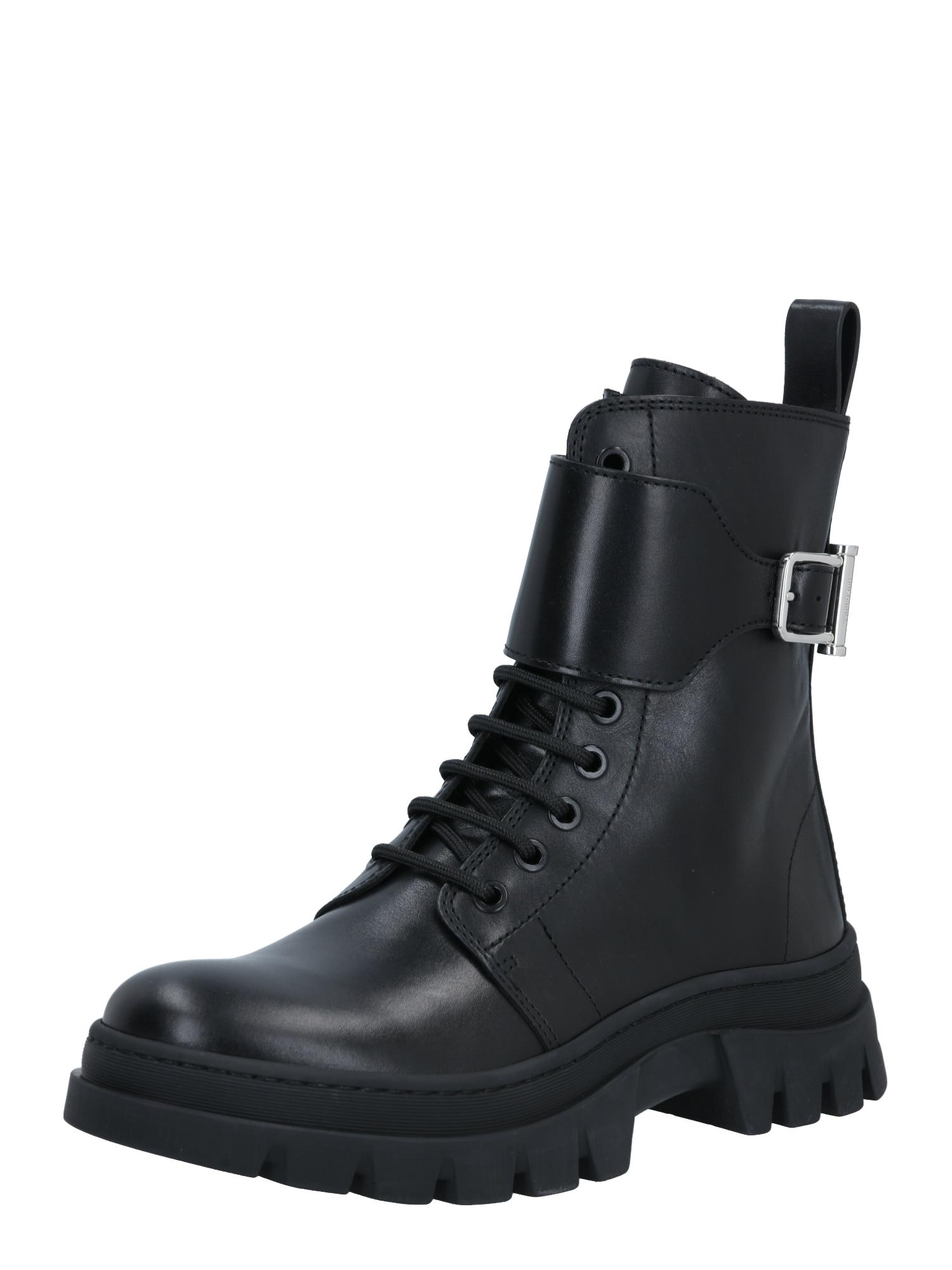BOSS Suvarstomieji kulkšnis dengiantys batai juoda