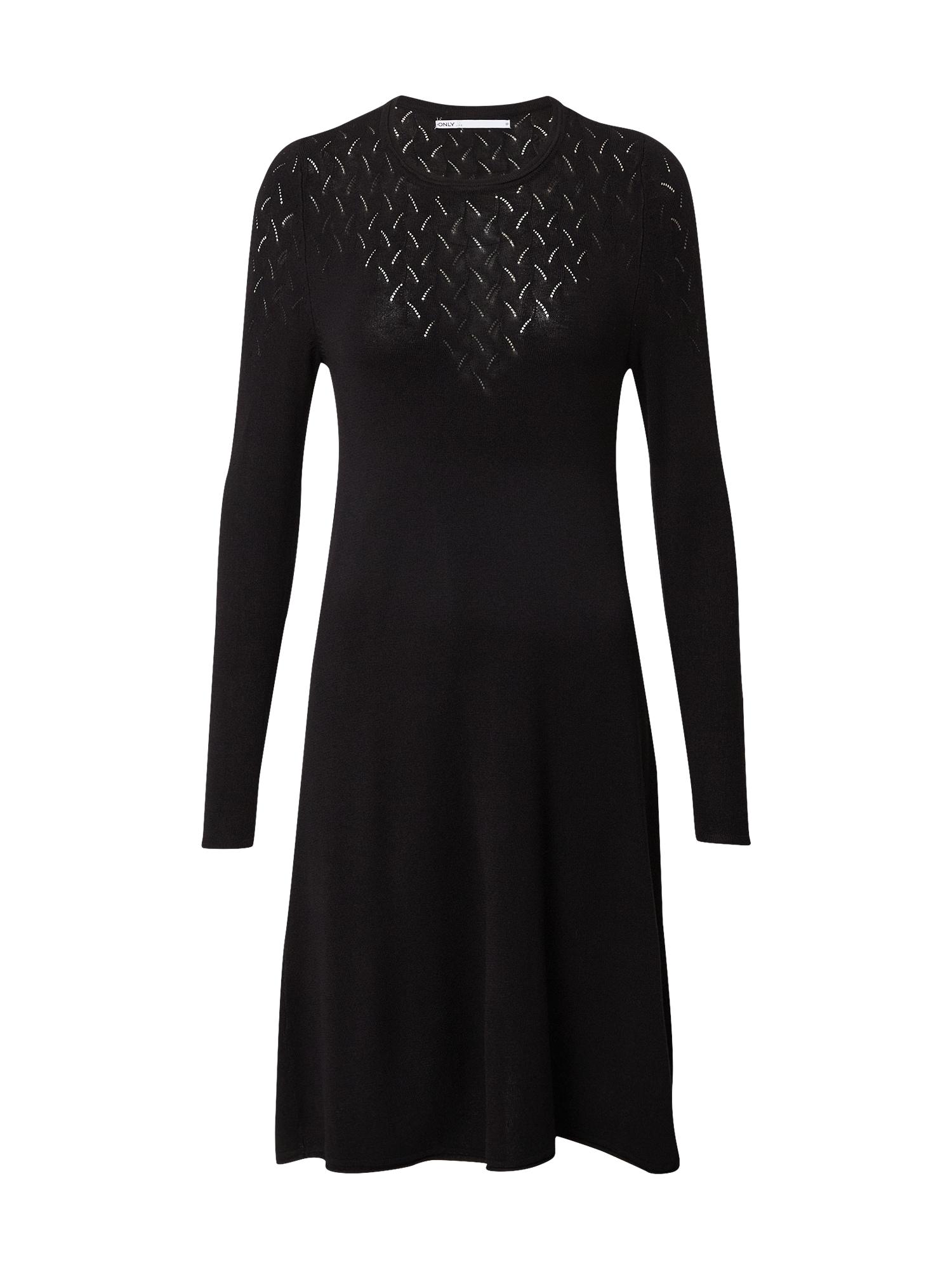 ONLY Úpletové šaty  černá