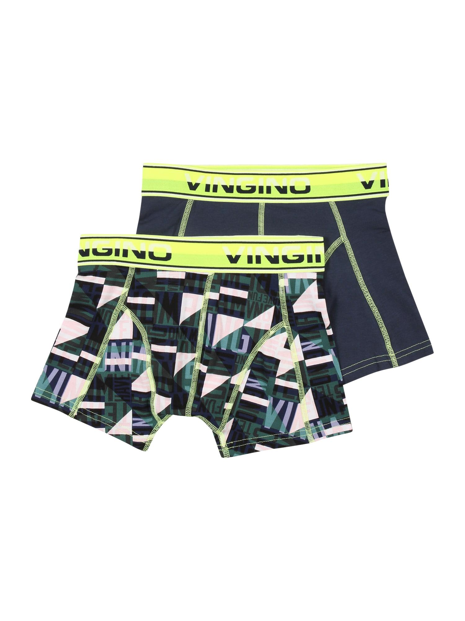 VINGINO Apatinės kelnaitės žalia / balta / nakties mėlyna
