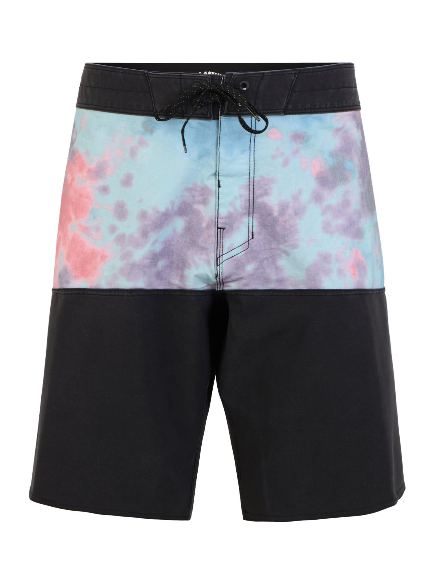 BILLABONG Plavecké šortky  černá / světlemodrá / pink / fialová