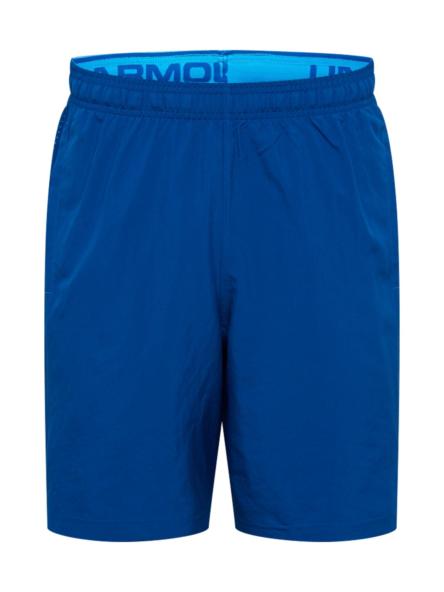 UNDER ARMOUR Sportovní kalhoty 'Woven Graphic'  nebeská modř