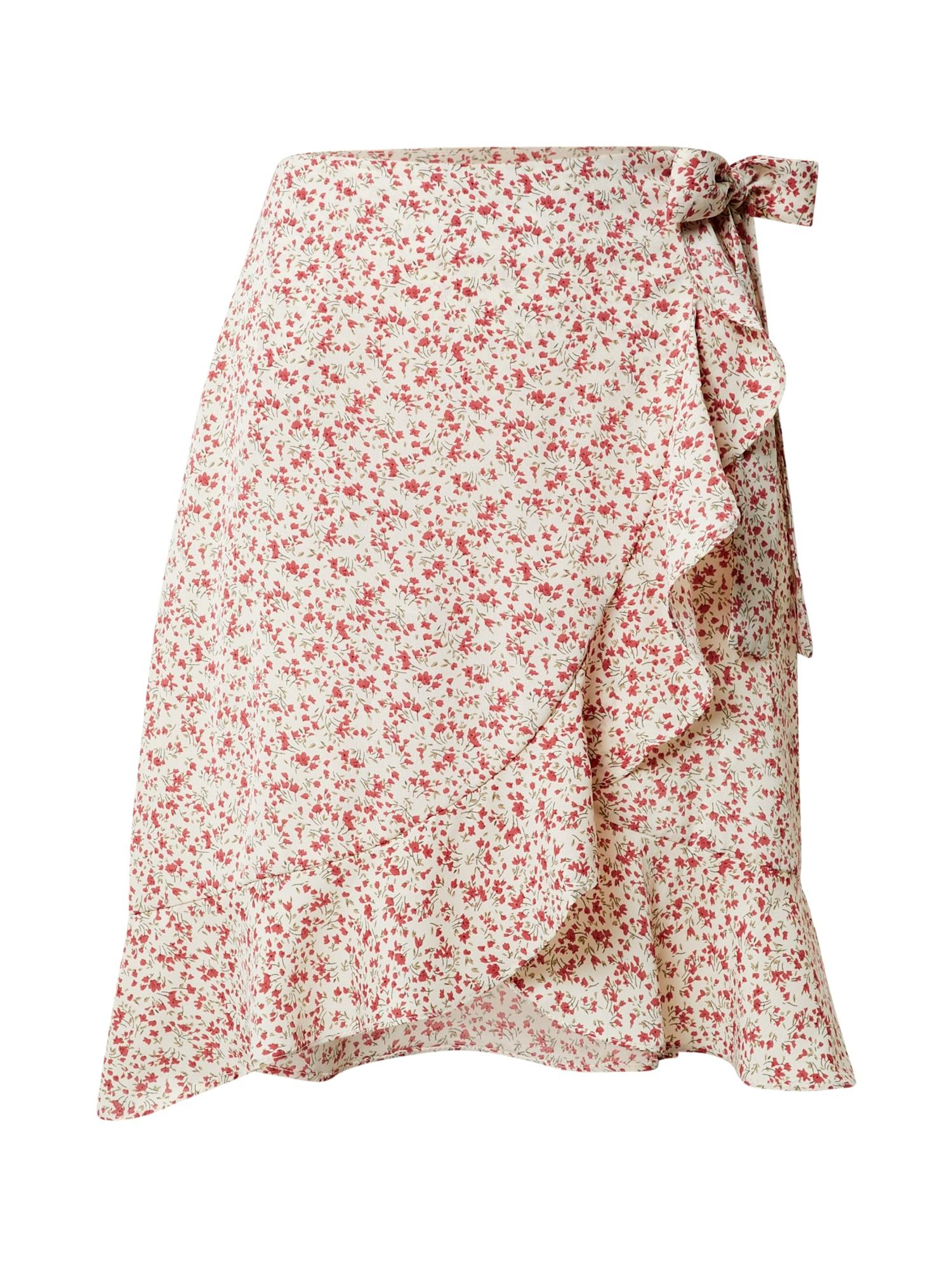 Missguided (Tall) Sijonas kremo / raudona