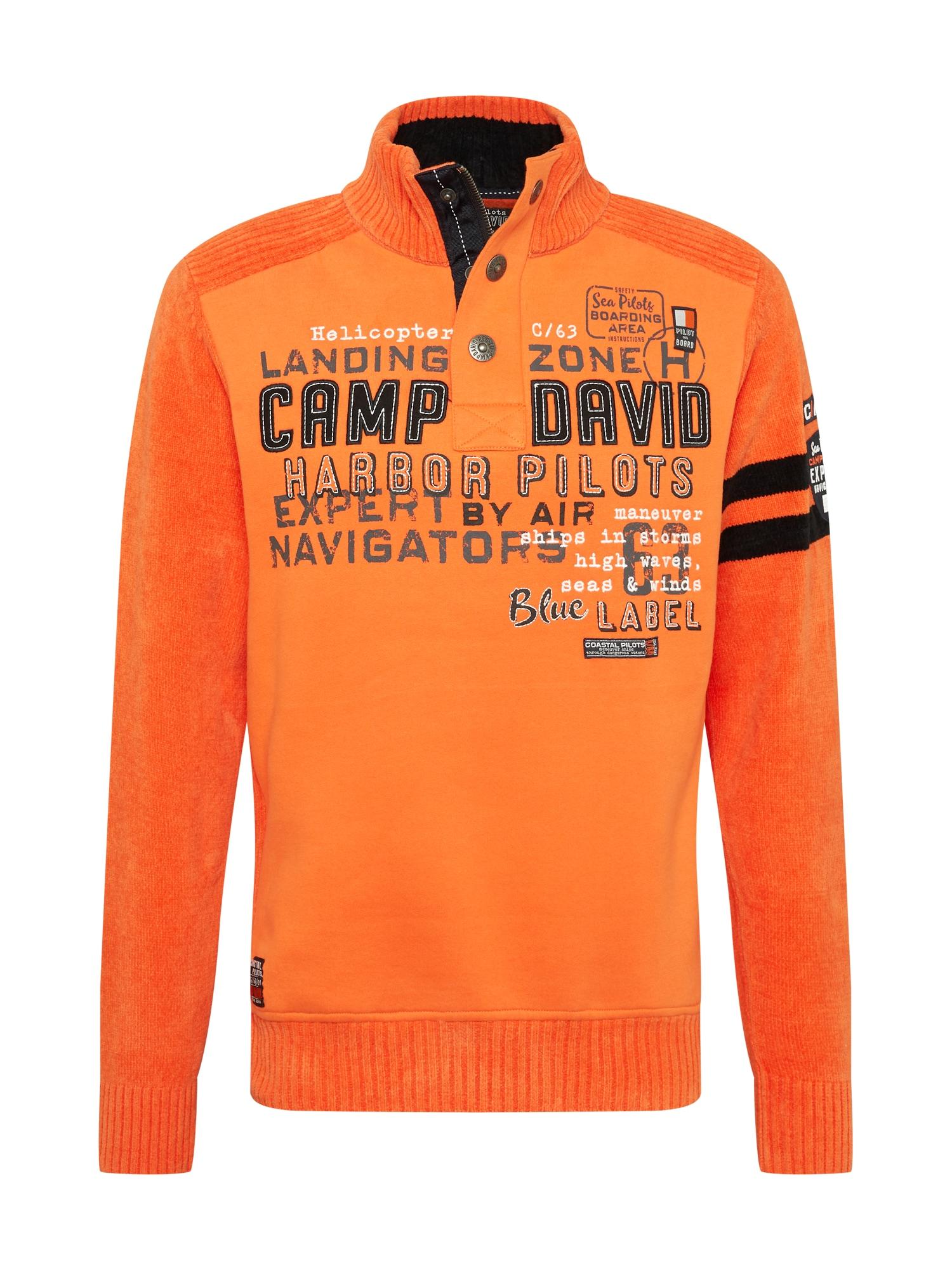 CAMP DAVID Megztinis oranžinė / tamsiai mėlyna / balta