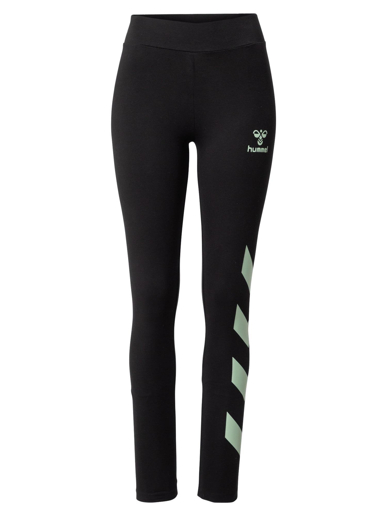 Hummel Sportovní kalhoty  černá / mátová