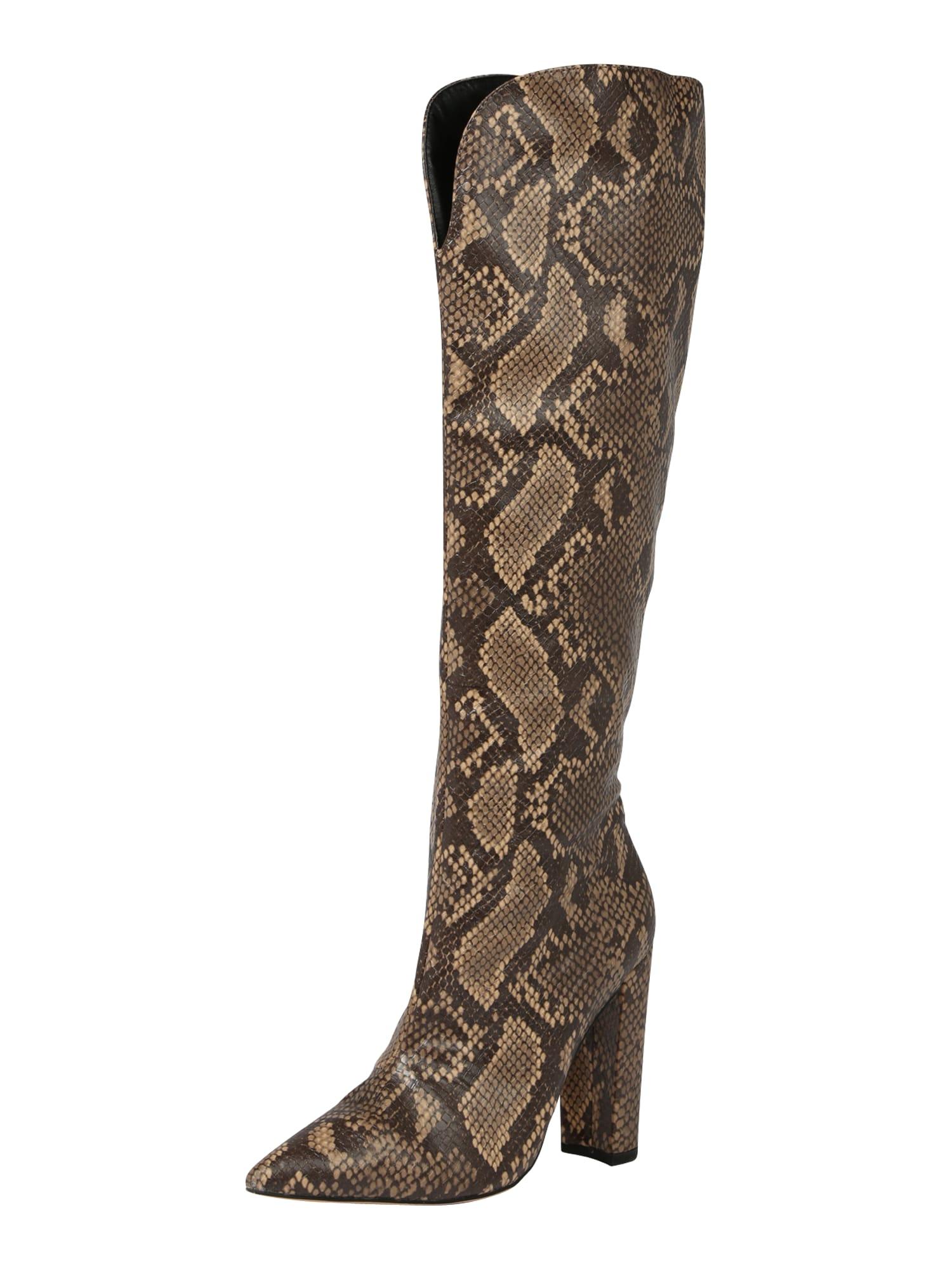 Public Desire Auliniai batai su kulniuku 'Slow' tamsiai ruda / gelsvai pilka spalva / ruda