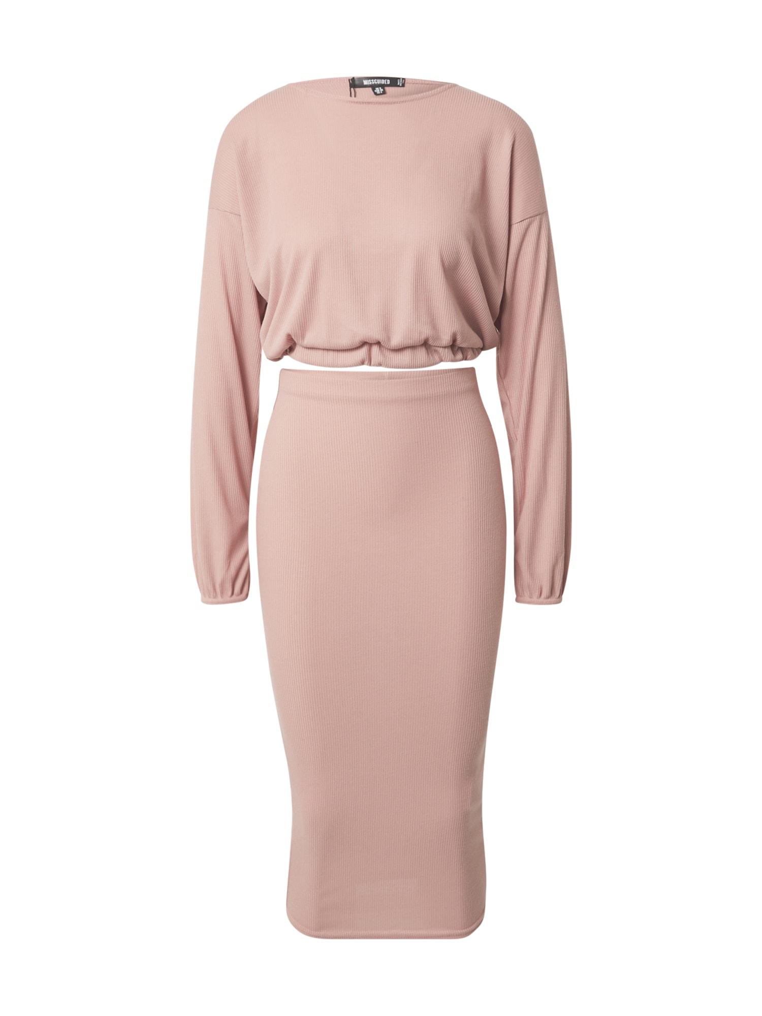 Missguided Kostiumėlis ryškiai rožinė spalva