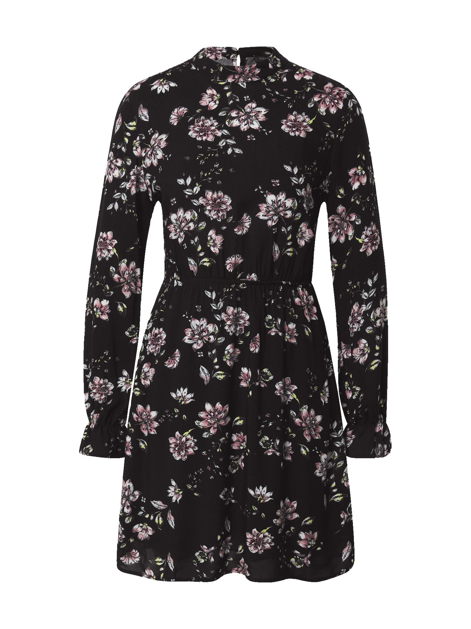 Trendyol Šaty  černá / pink / žlutá