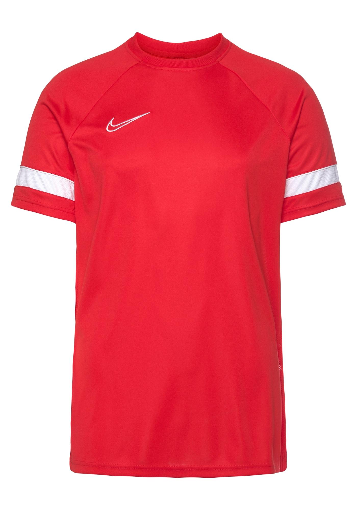 NIKE Sportiniai marškinėliai balta / šviesiai raudona