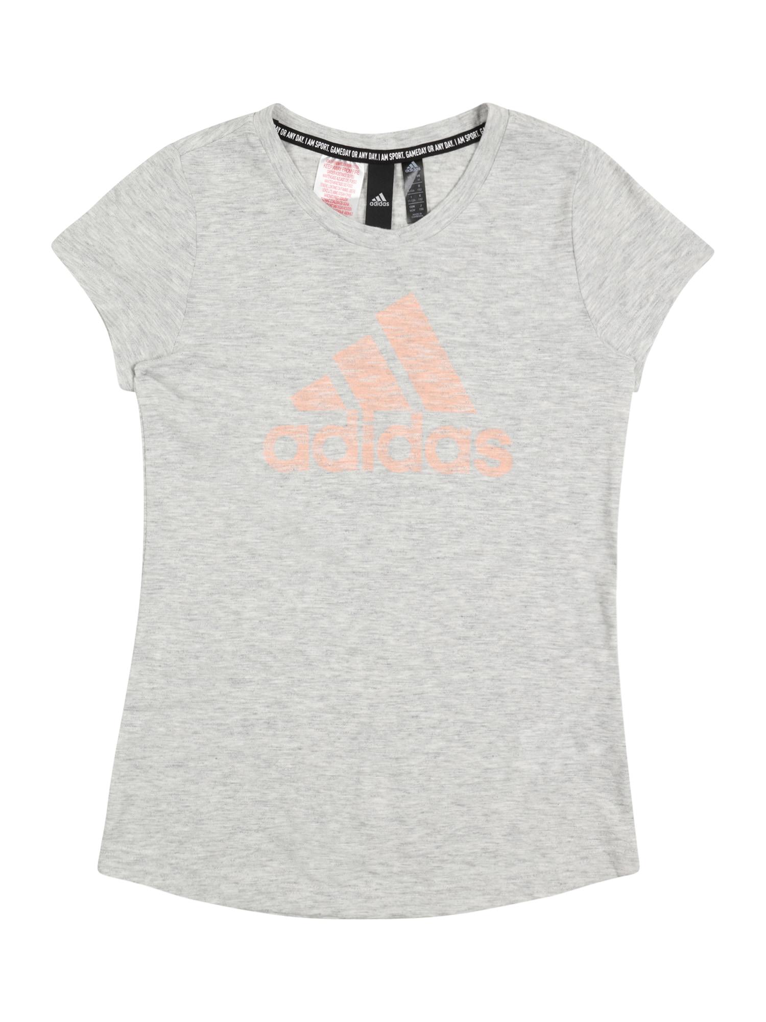 ADIDAS PERFORMANCE Sportiniai marškinėliai margai pilka / persikų spalva