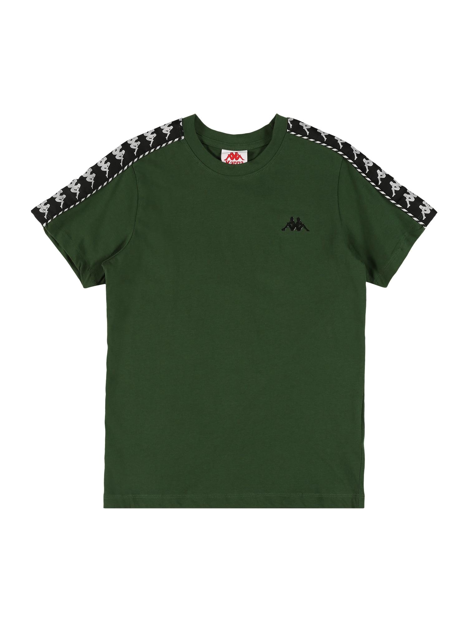 KAPPA Marškinėliai žalia / balta / juoda