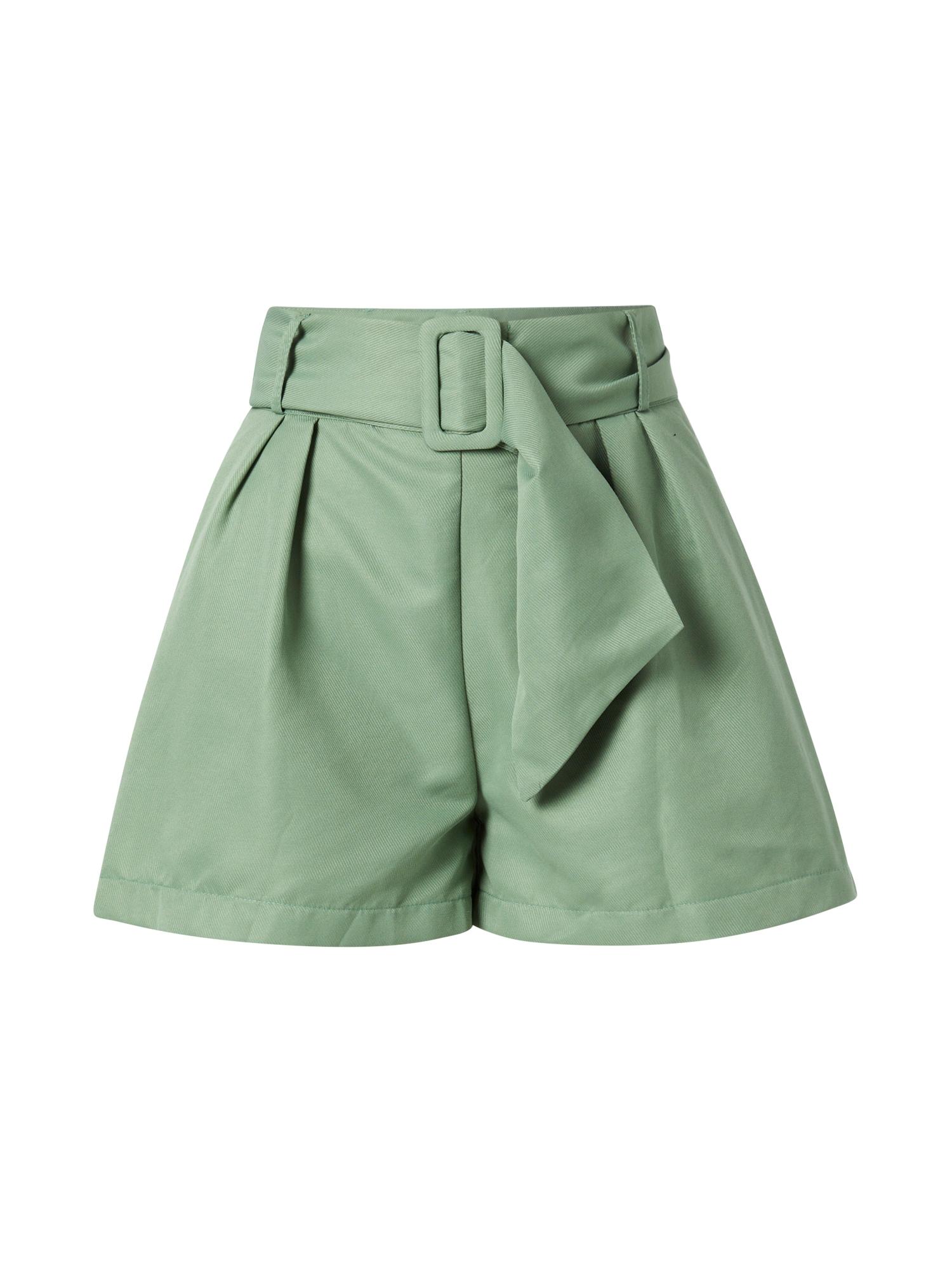 Trendyol Klostuotos kelnės šviesiai žalia