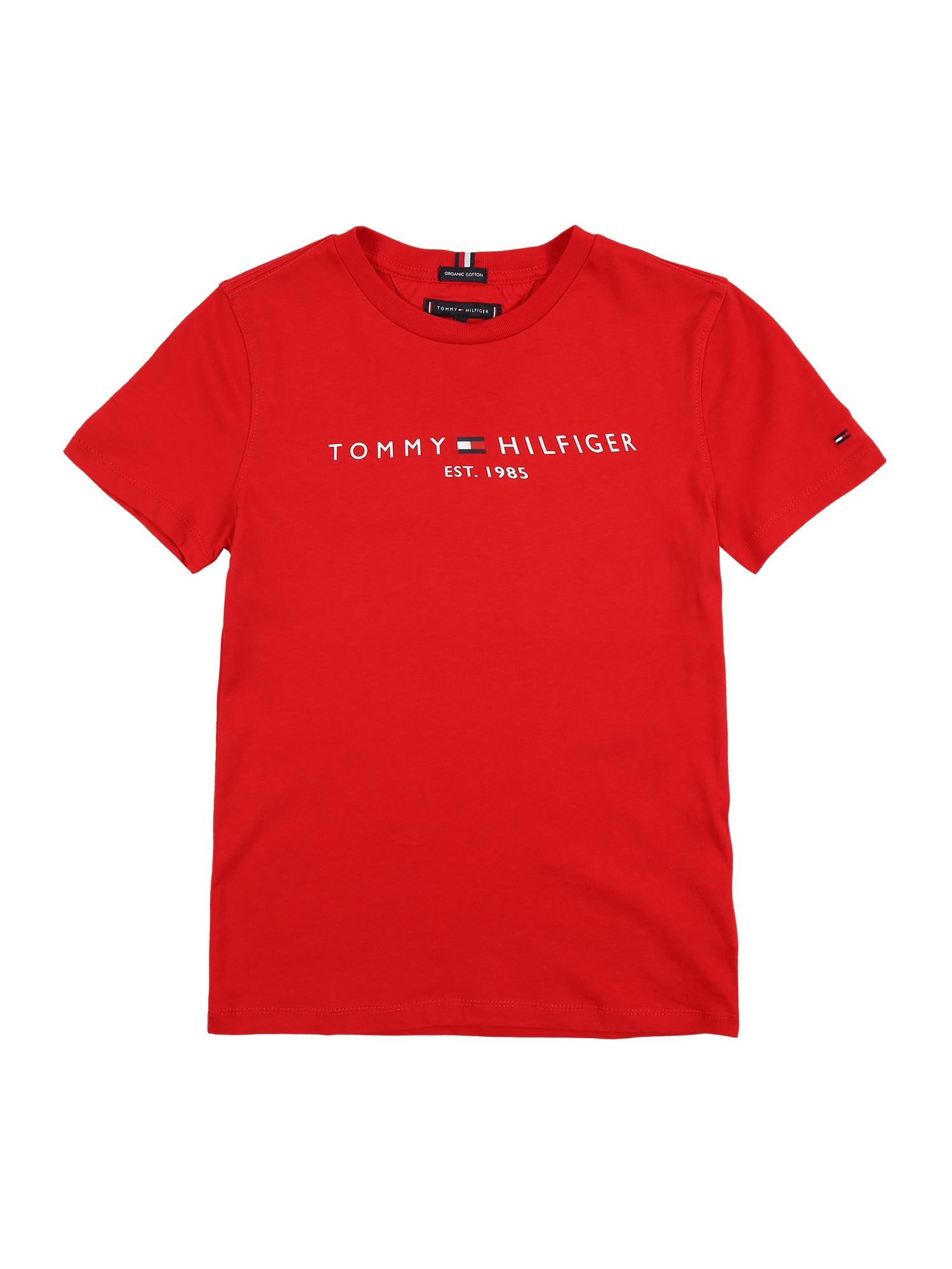 TOMMY HILFIGER Tričko  červená / mix barev