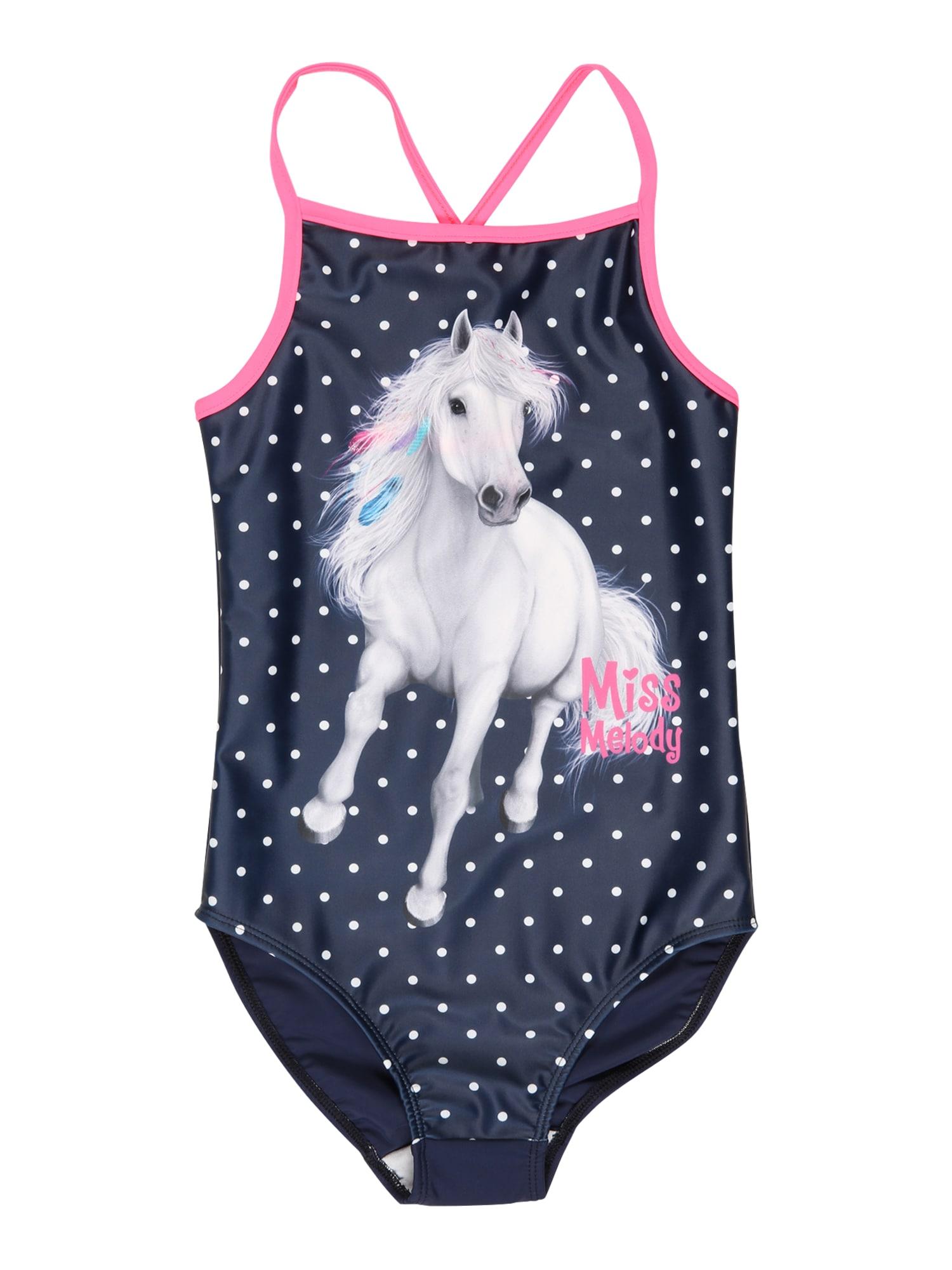 Miss Melody Maudymosi kostiumėlis nakties mėlyna / balta / rožinė / turkio spalva / šviesiai pilka