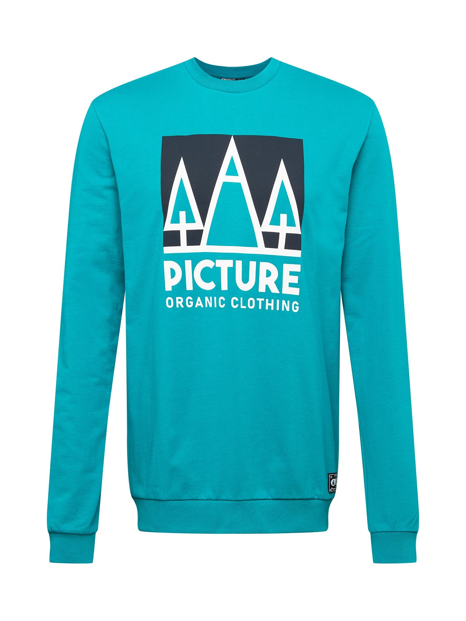 Picture Organic Clothing Sportinio tipo megztinis nefrito spalva / juoda / balta