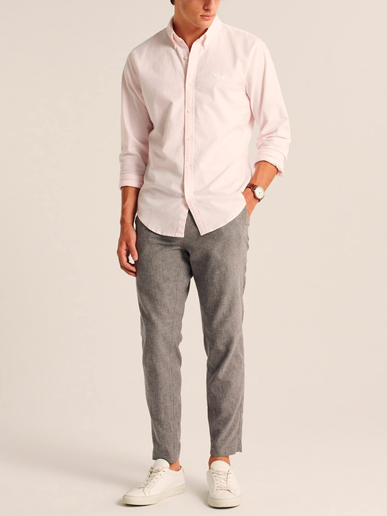 Abercrombie & Fitch Skjorta 'Oxford'  rosa