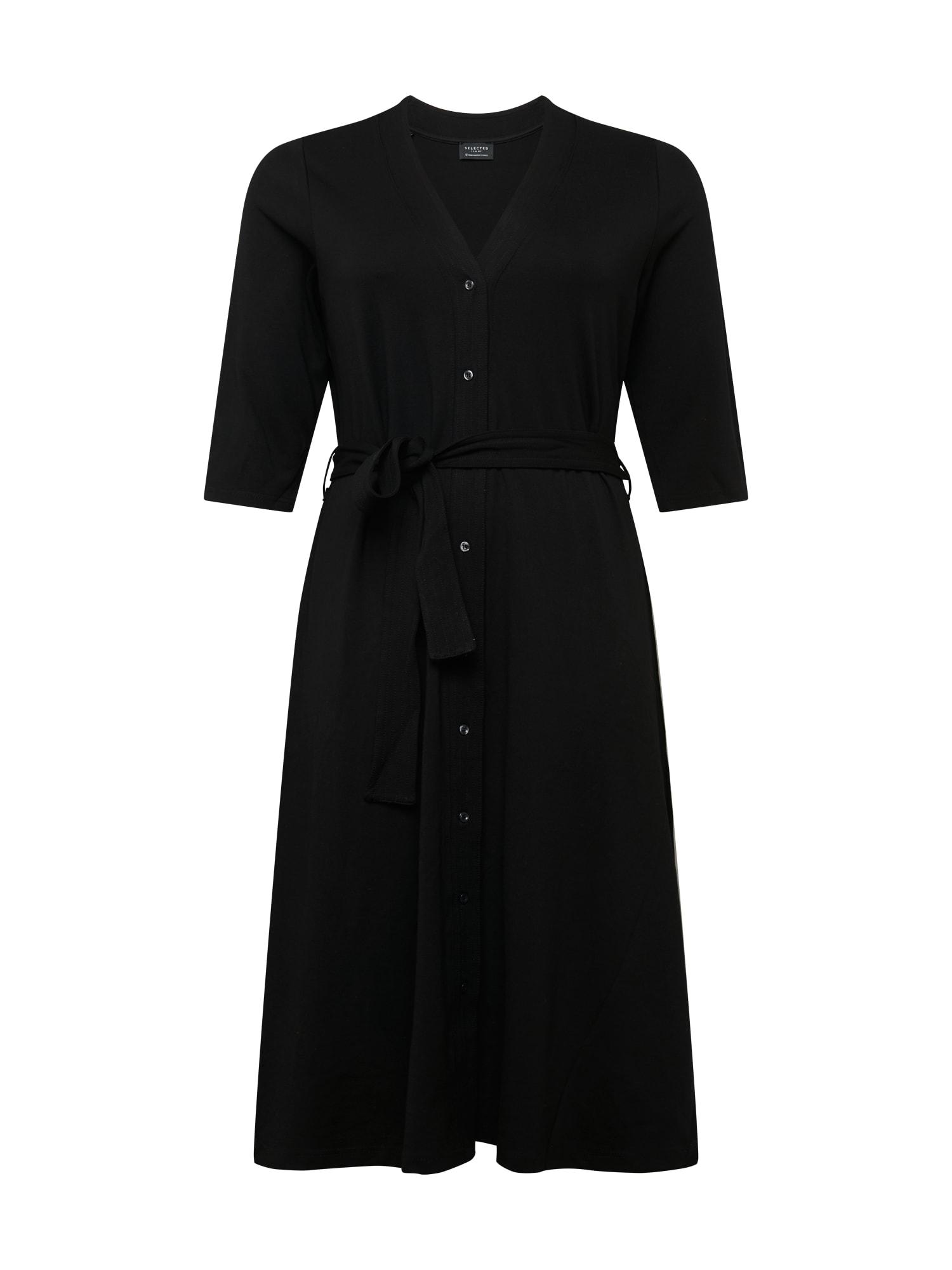 Selected Femme Curve Suknelė juoda