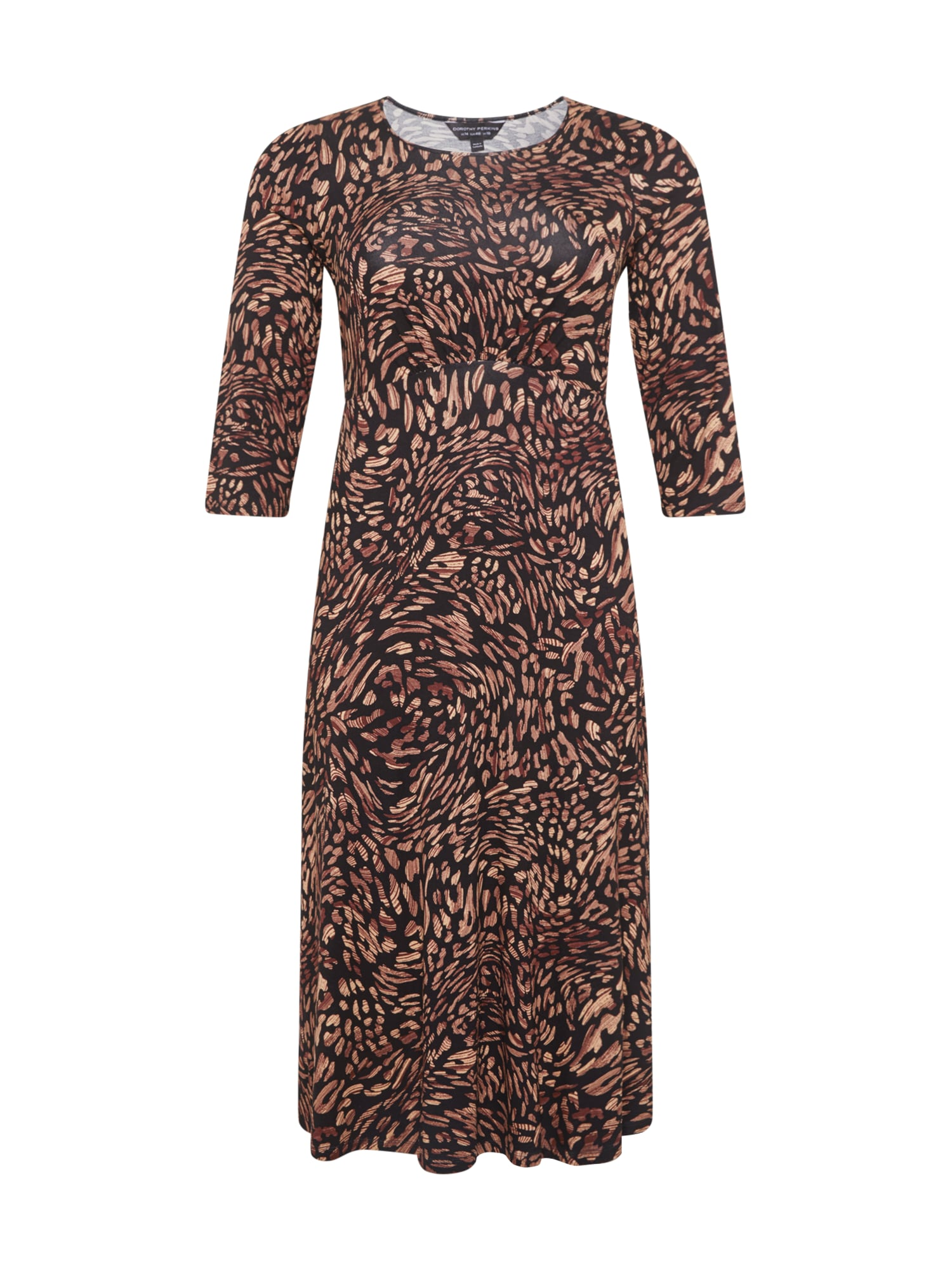 Dorothy Perkins Curve Suknelė juoda / ruda