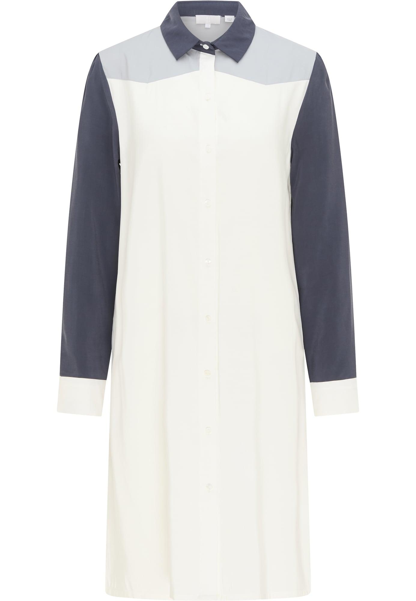 RISA Palaidinės tipo suknelė balta / nakties mėlyna / pilka