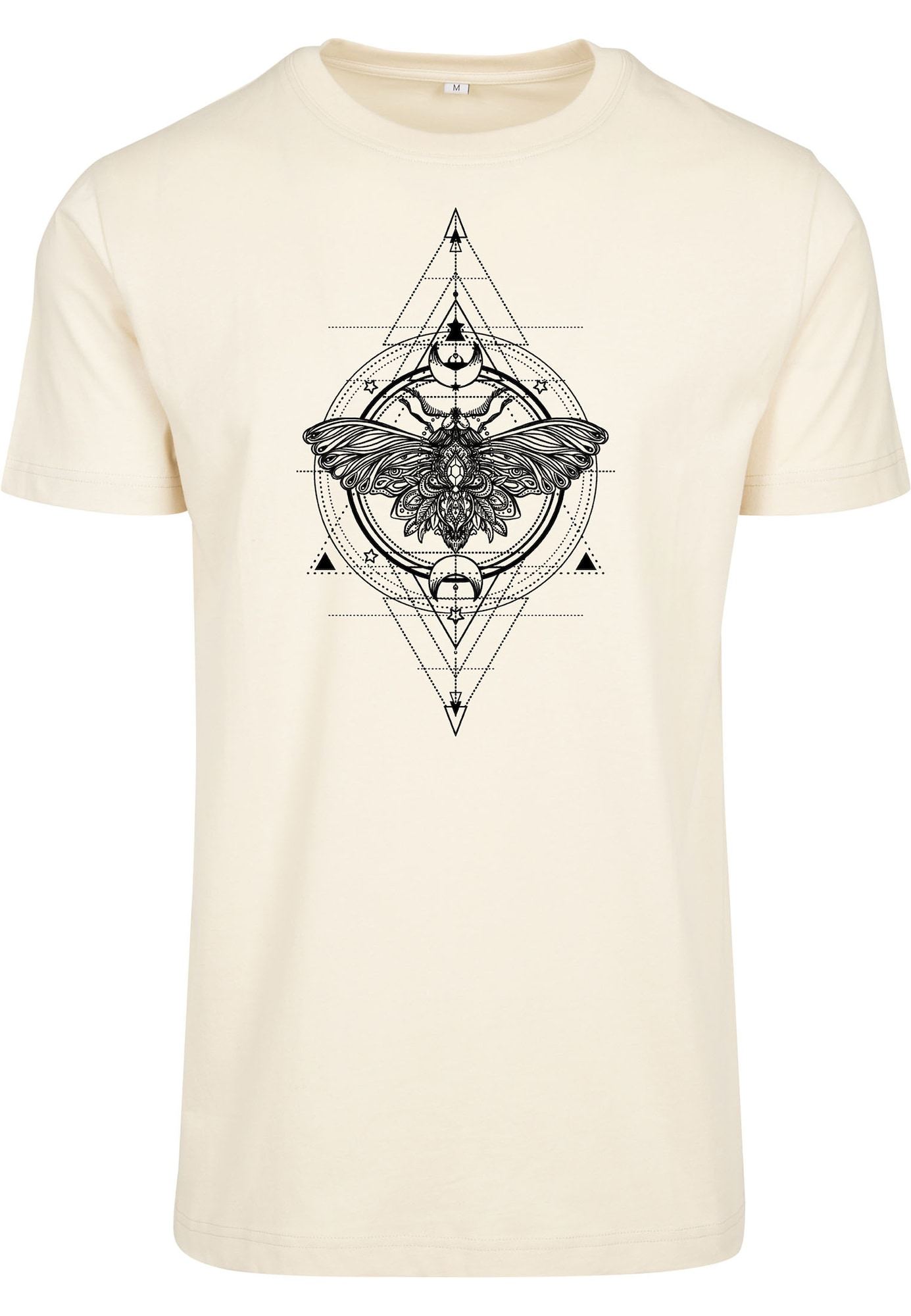 Merchcode Marškinėliai smėlio / juoda