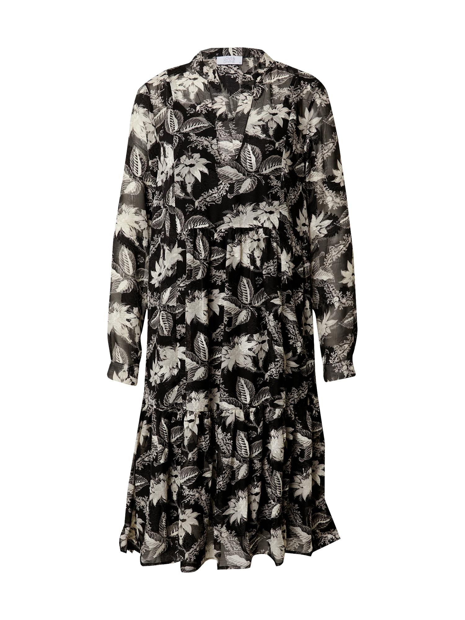 Love & Divine Palaidinės tipo suknelė smėlio / šviesiai pilka / margai pilka / juoda