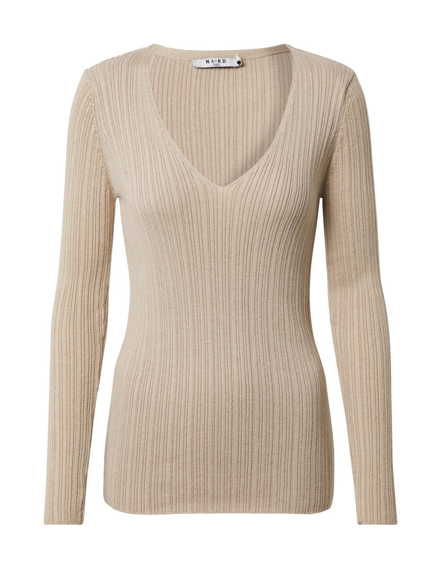 NA-KD Megztinis gelsvai pilka spalva