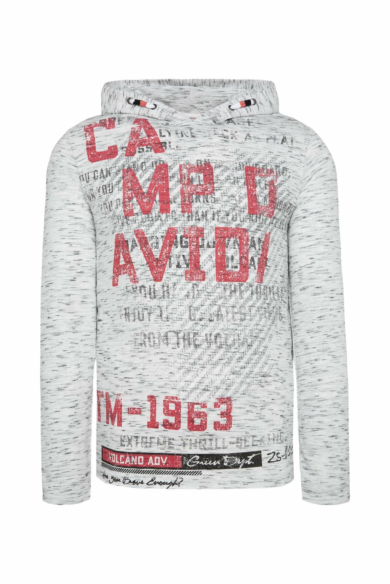CAMP DAVID Marškinėliai raudona / pilka / margai pilka