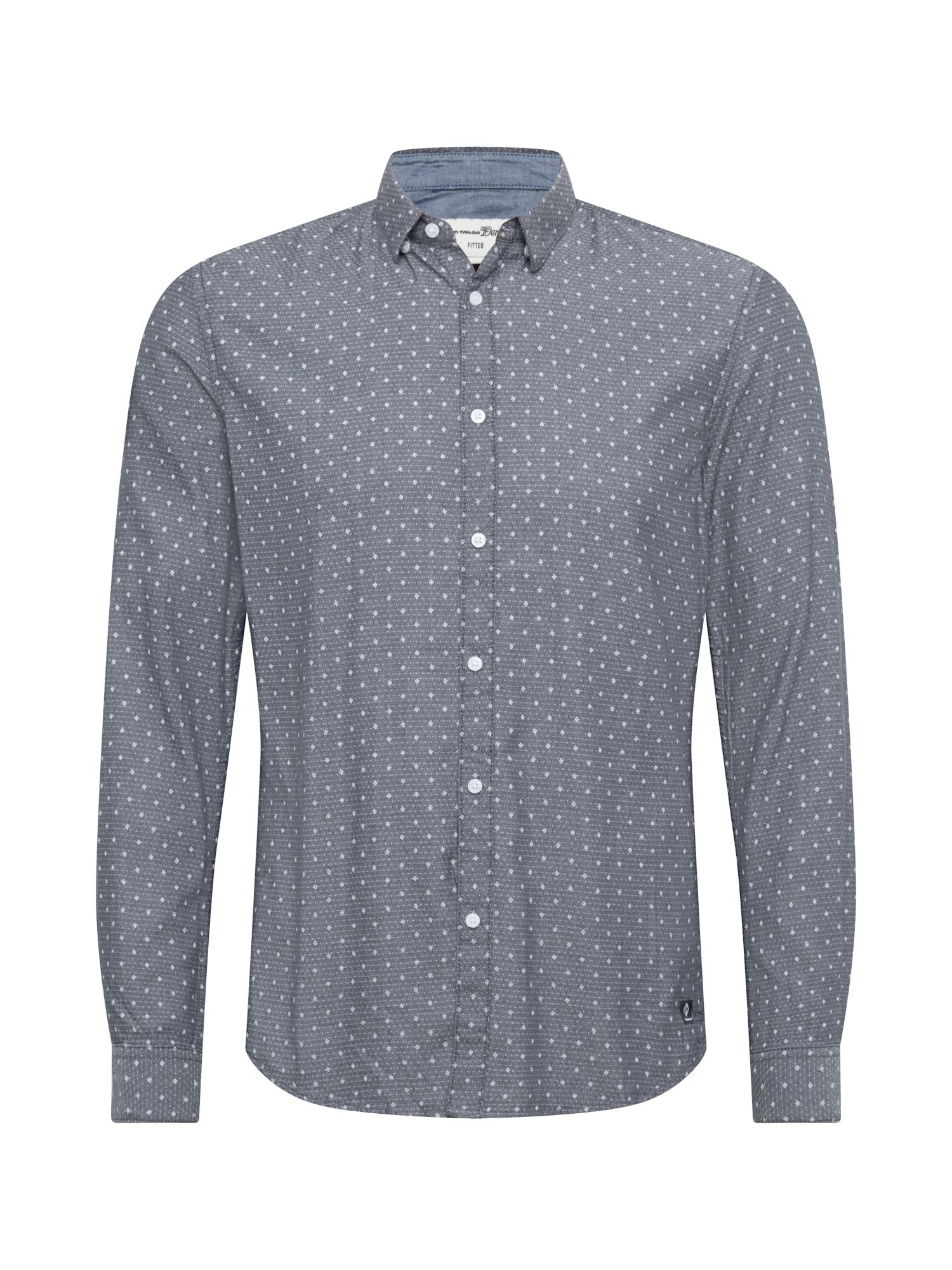 TOM TAILOR DENIM Košile  námořnická modř / bílá