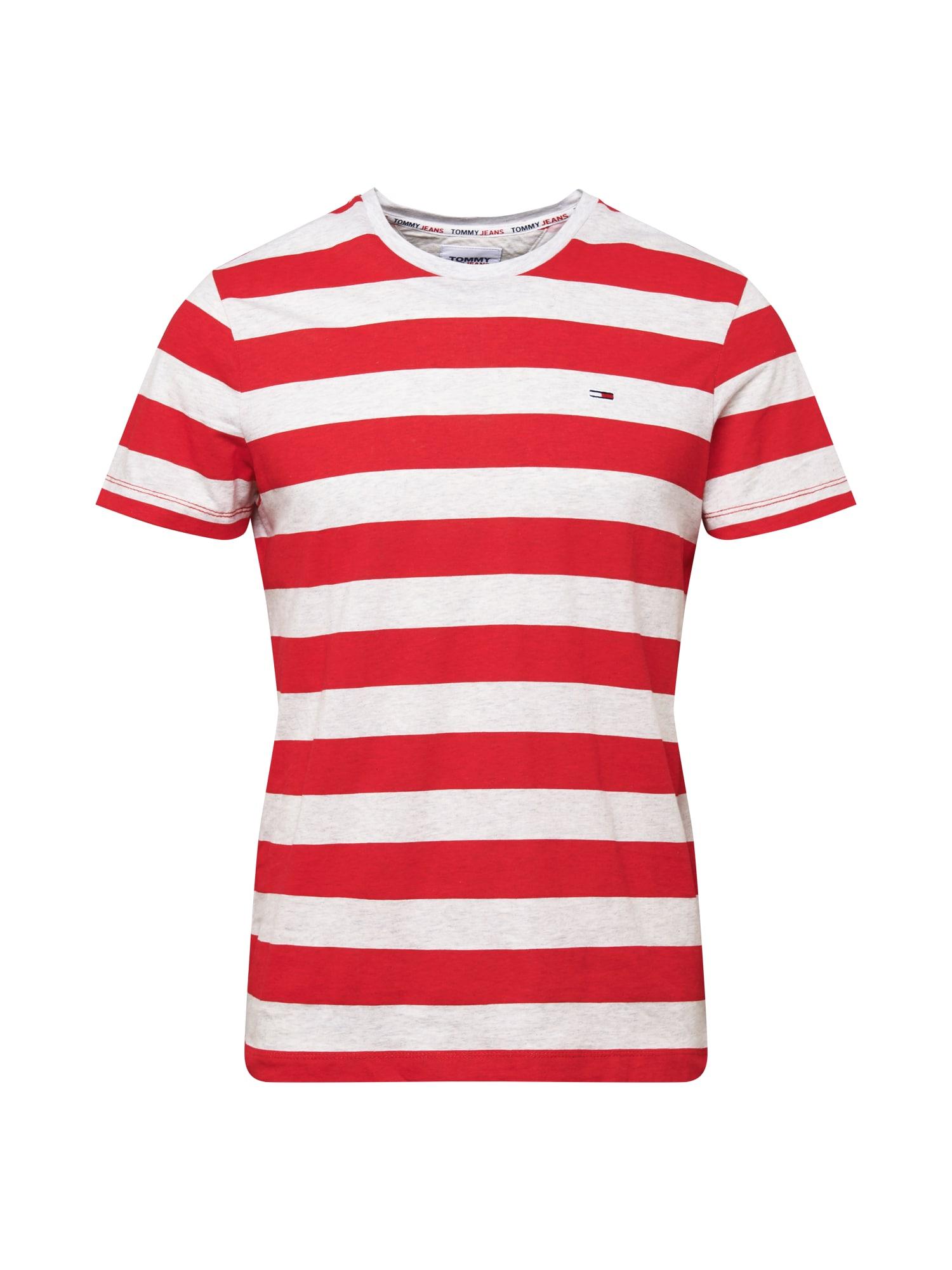 Tommy Jeans Tričko 'HEATHER'  bílá / červená
