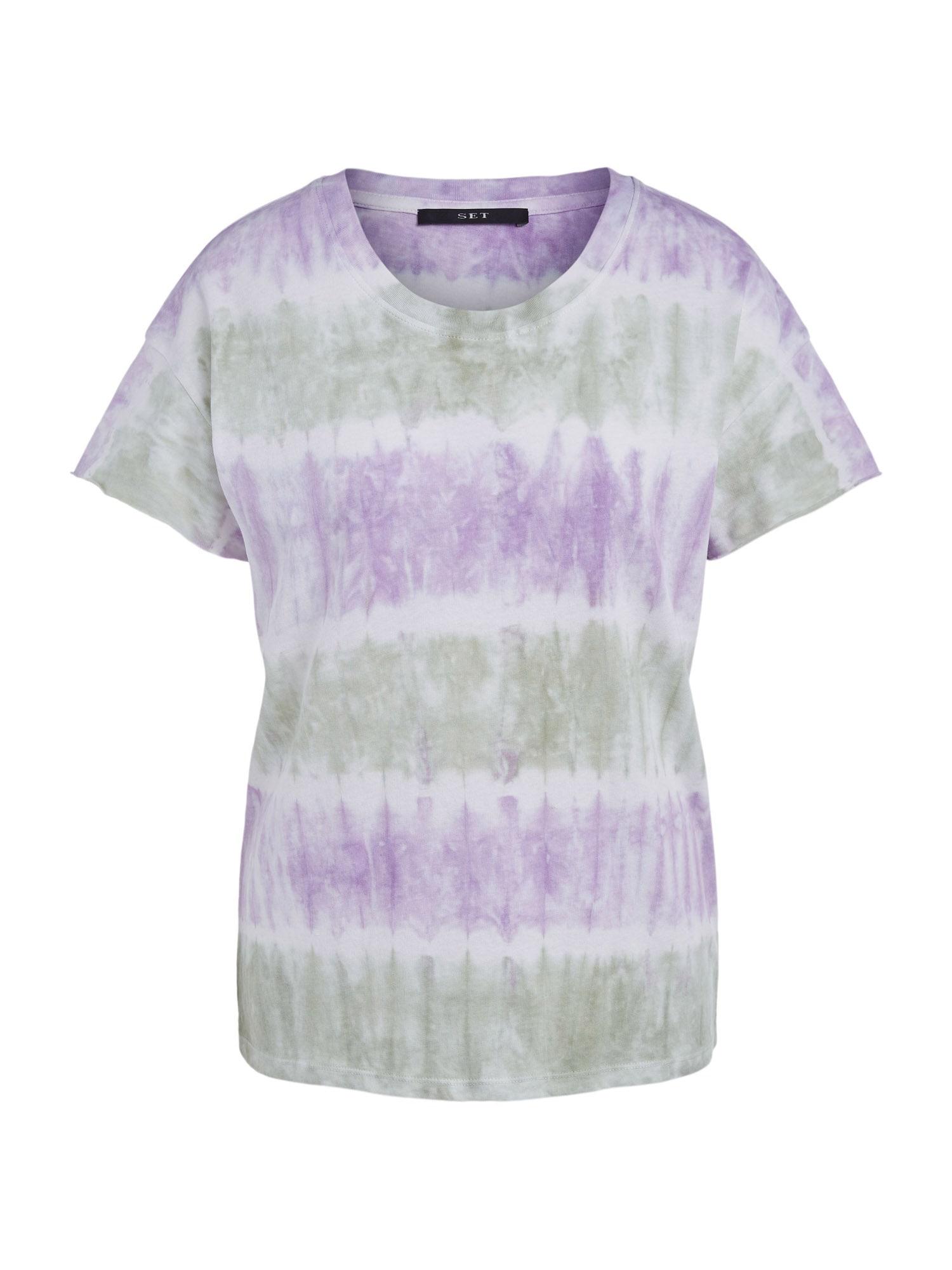 SET Marškinėliai purpurinė / balta / pastelinė žalia