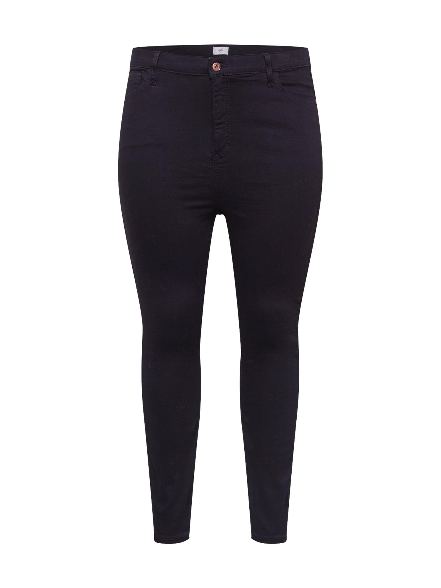 River Island Plus Džinsai juodo džinso spalva