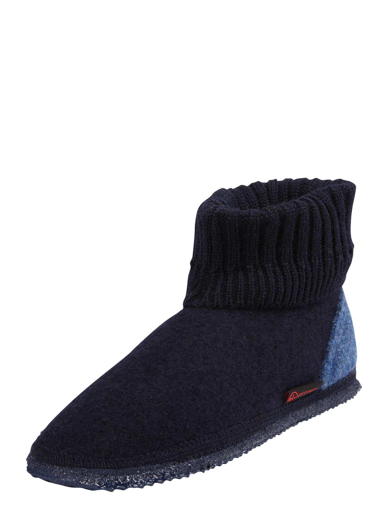 GIESSWEIN Pantofle 'Kramsach'  chladná modrá / tmavě modrá