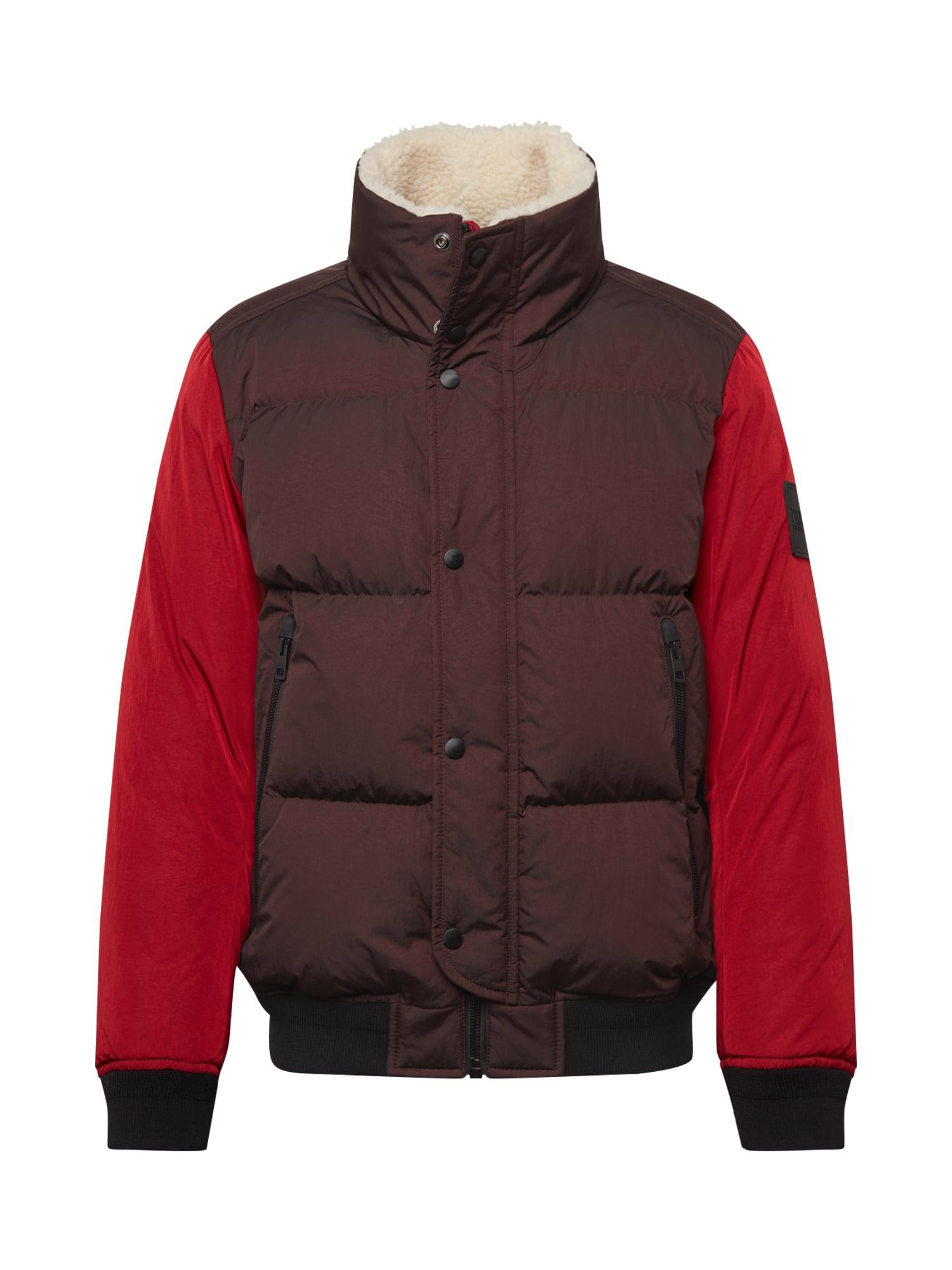 BOSS Zimní bunda 'Osk'  červená / bordó / černá