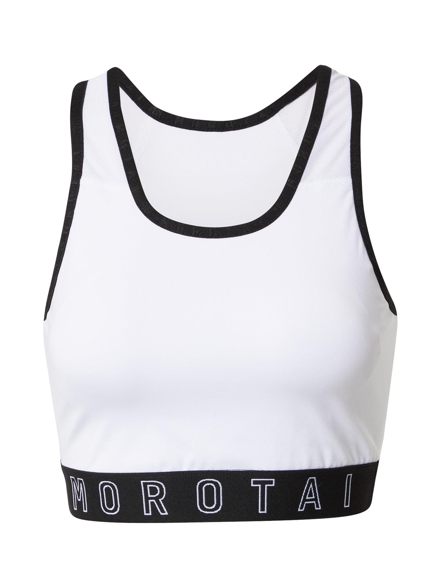 MOROTAI Sportinė liemenėlė balta / juoda