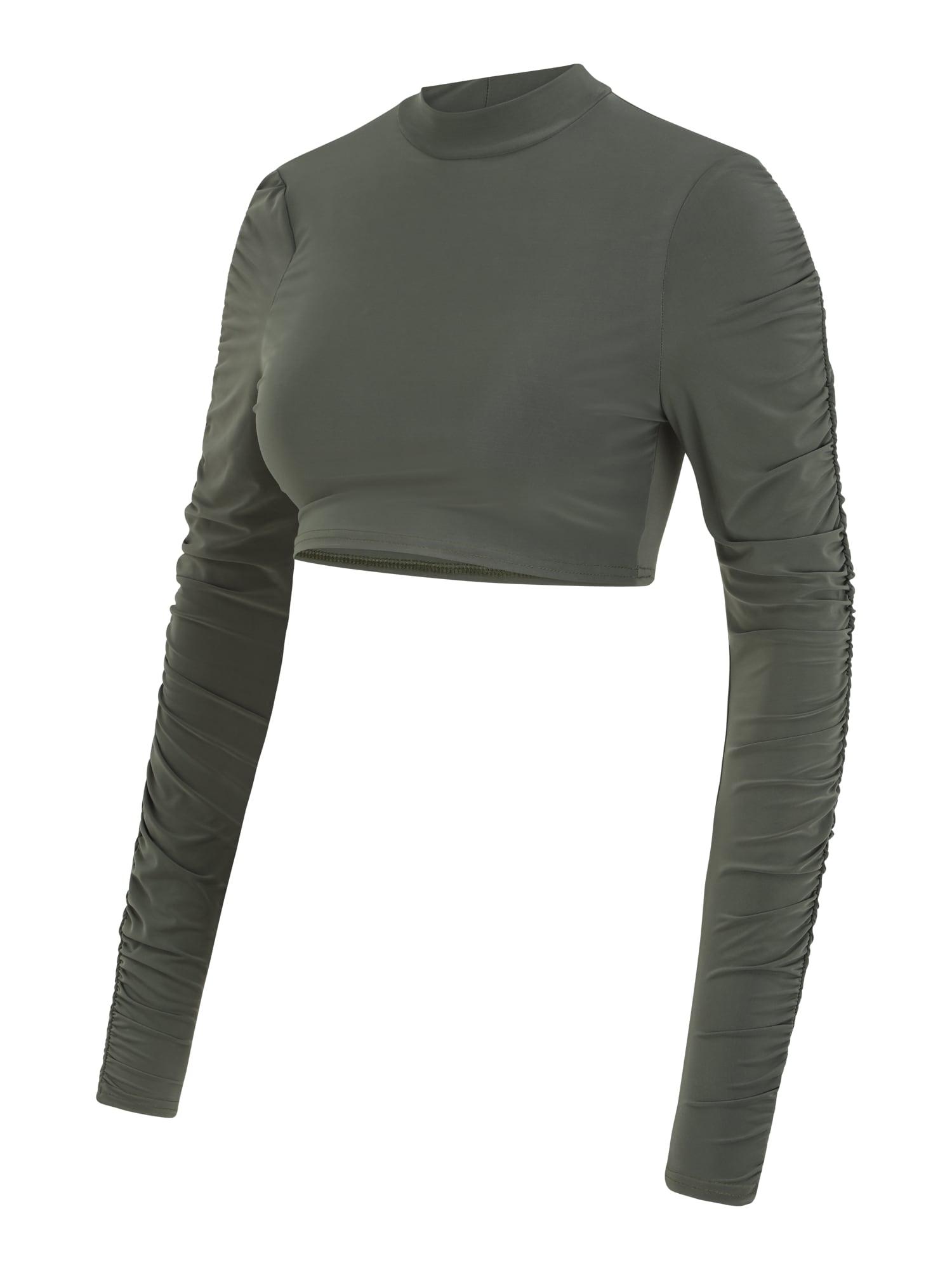 Missguided Maternity Marškinėliai rusvai žalia