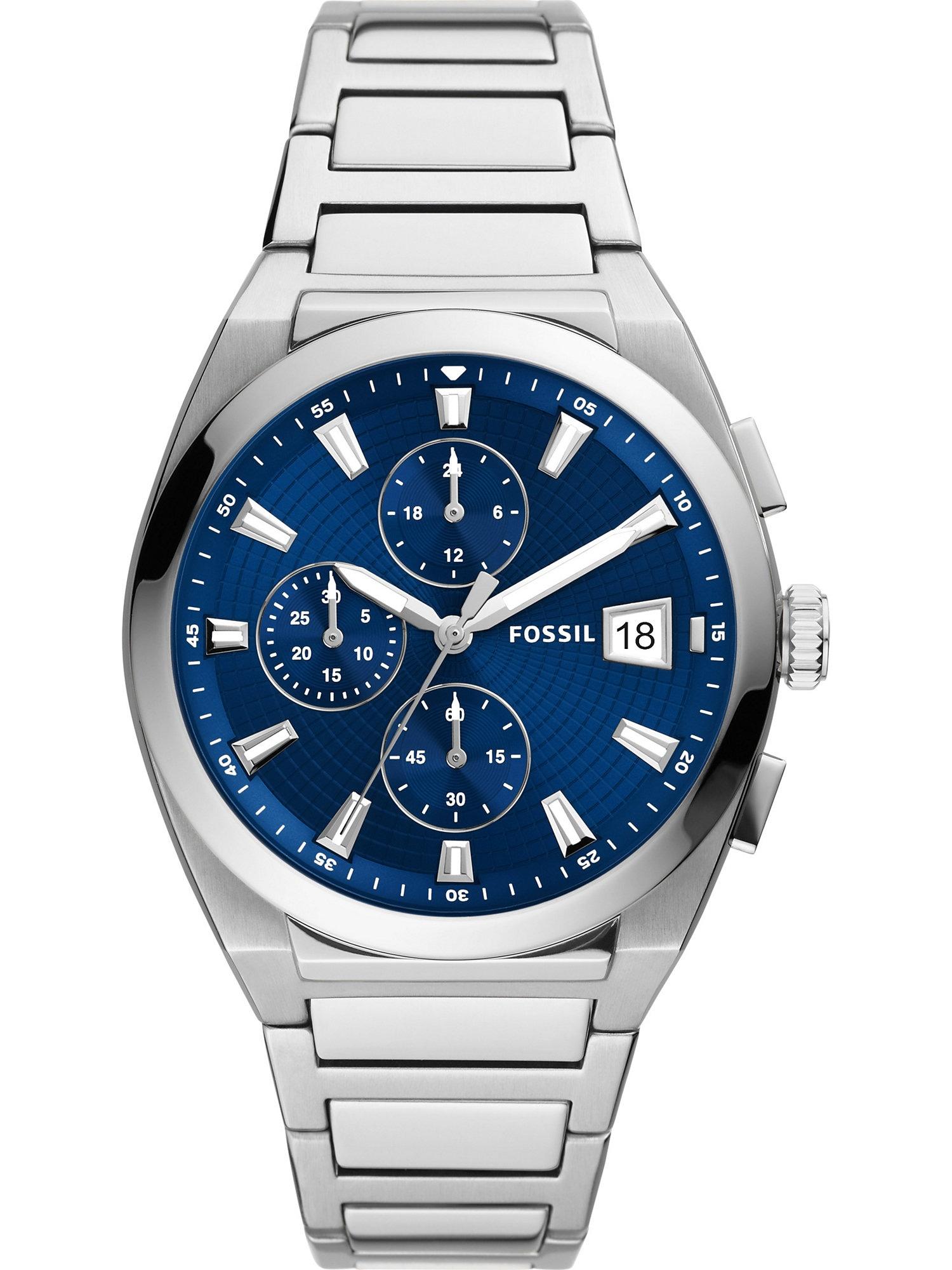 FOSSIL Analoginis (įprasto dizaino) laikrodis mėlyna / sidabrinė