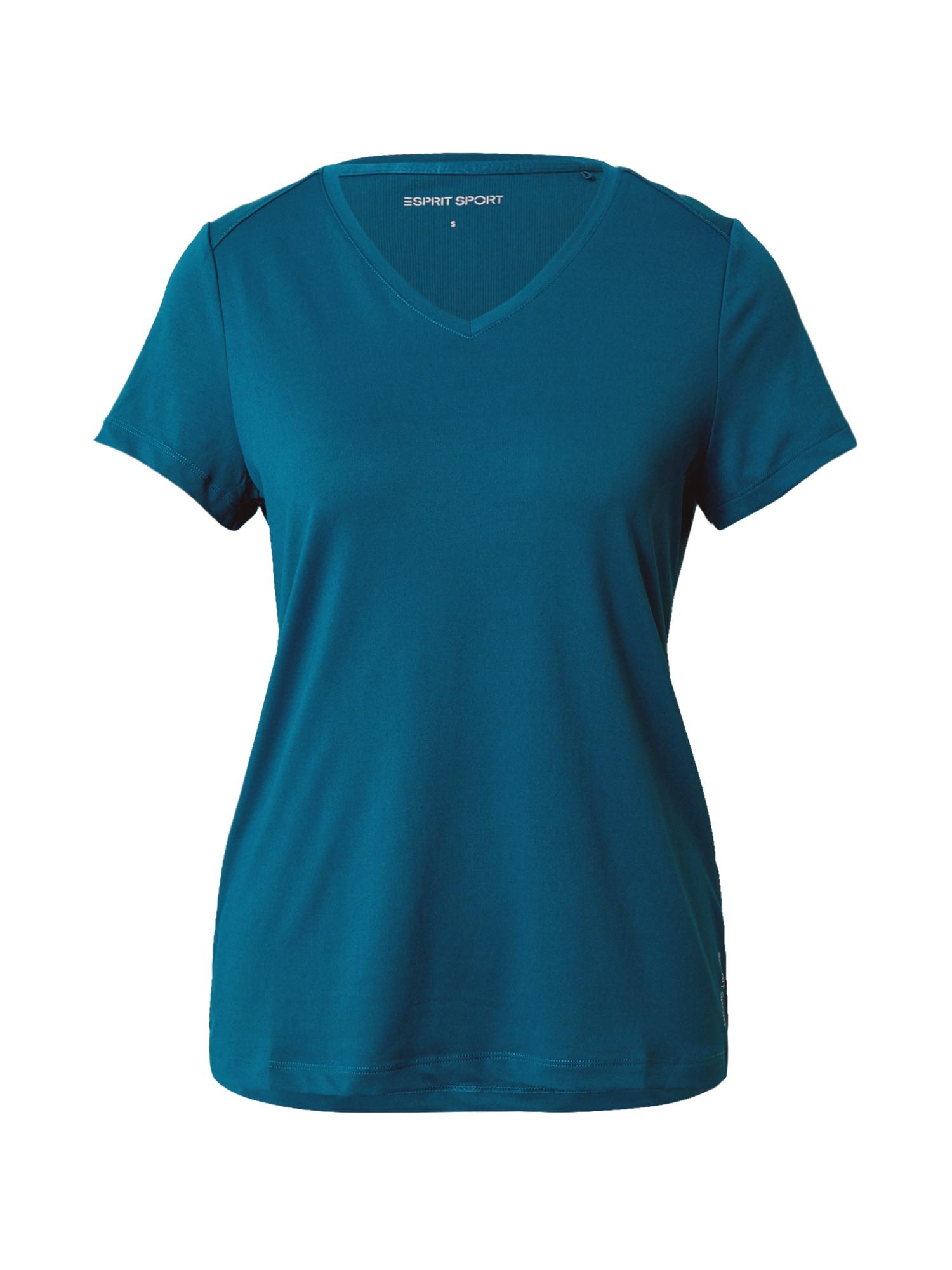 ESPRIT SPORT Sportiniai marškinėliai tamsiai žalia