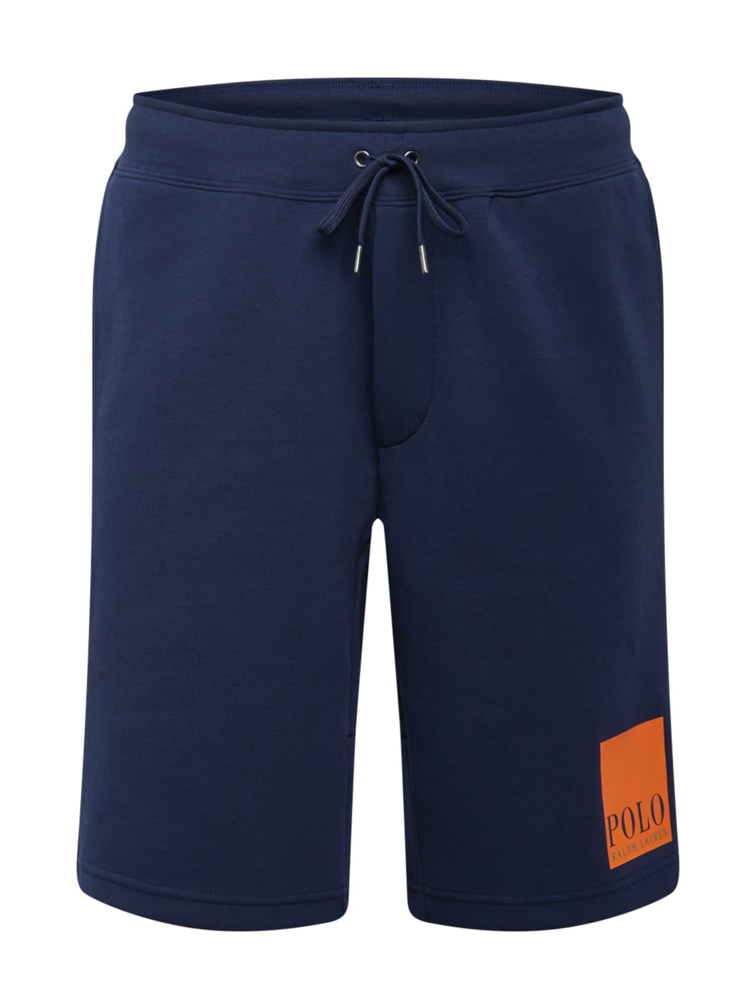 POLO RALPH LAUREN Kalhoty  námořnická modř / tmavě oranžová